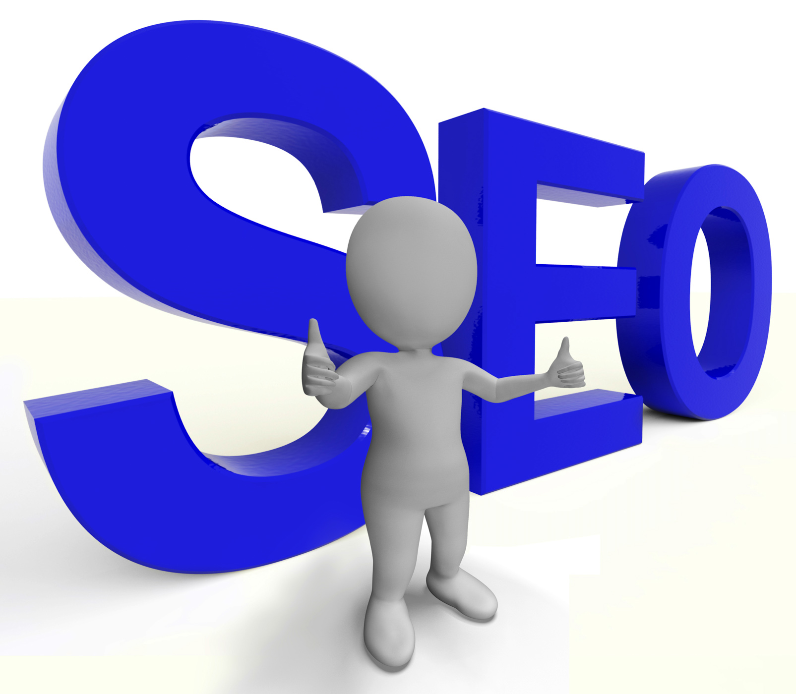 Seo word represents internet optimization and promotion photo