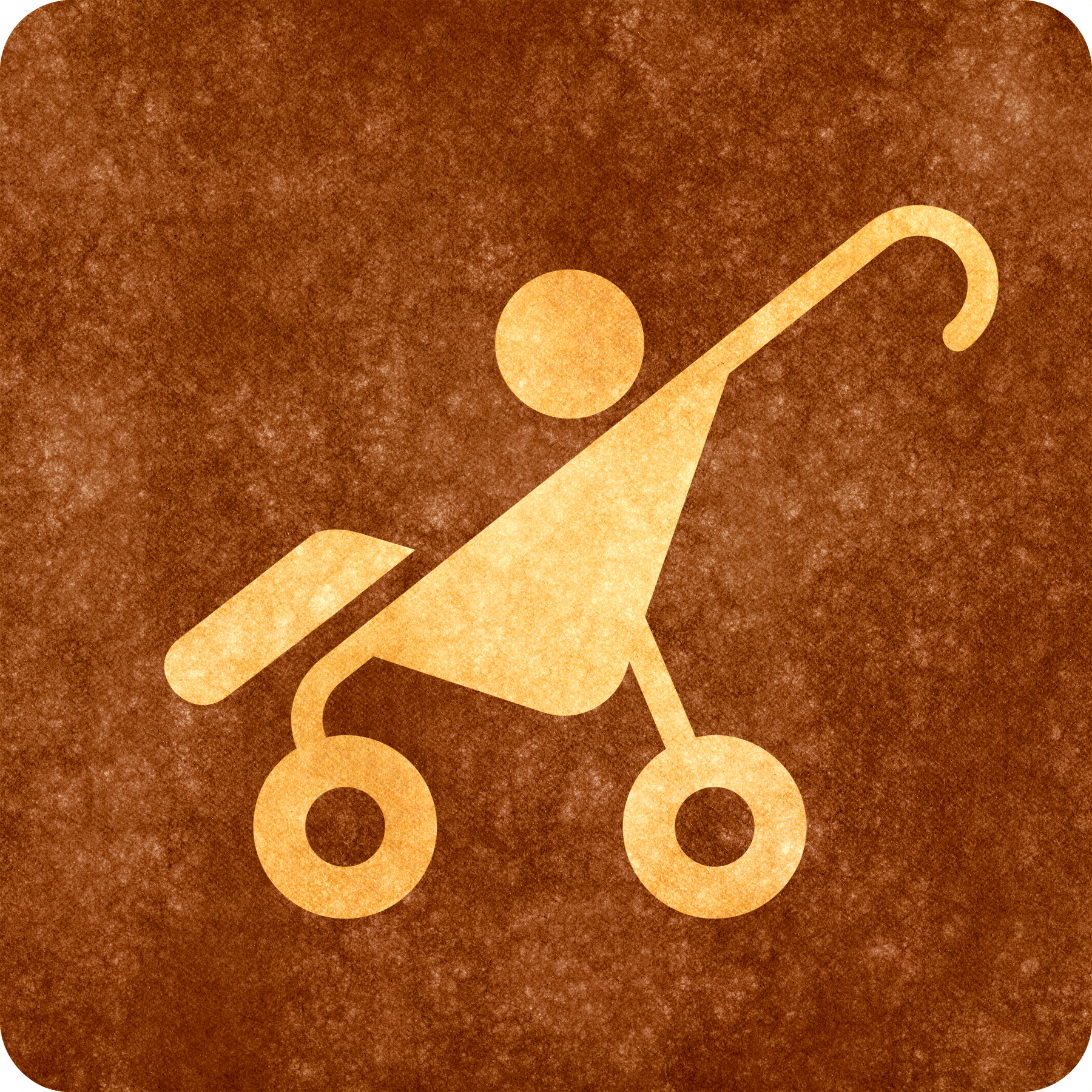 Sepia grunge sign - baby stroller photo