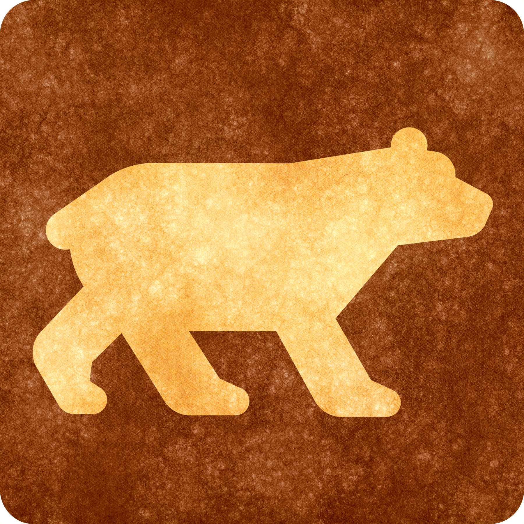 Sepia grunge sign - bear viewing photo