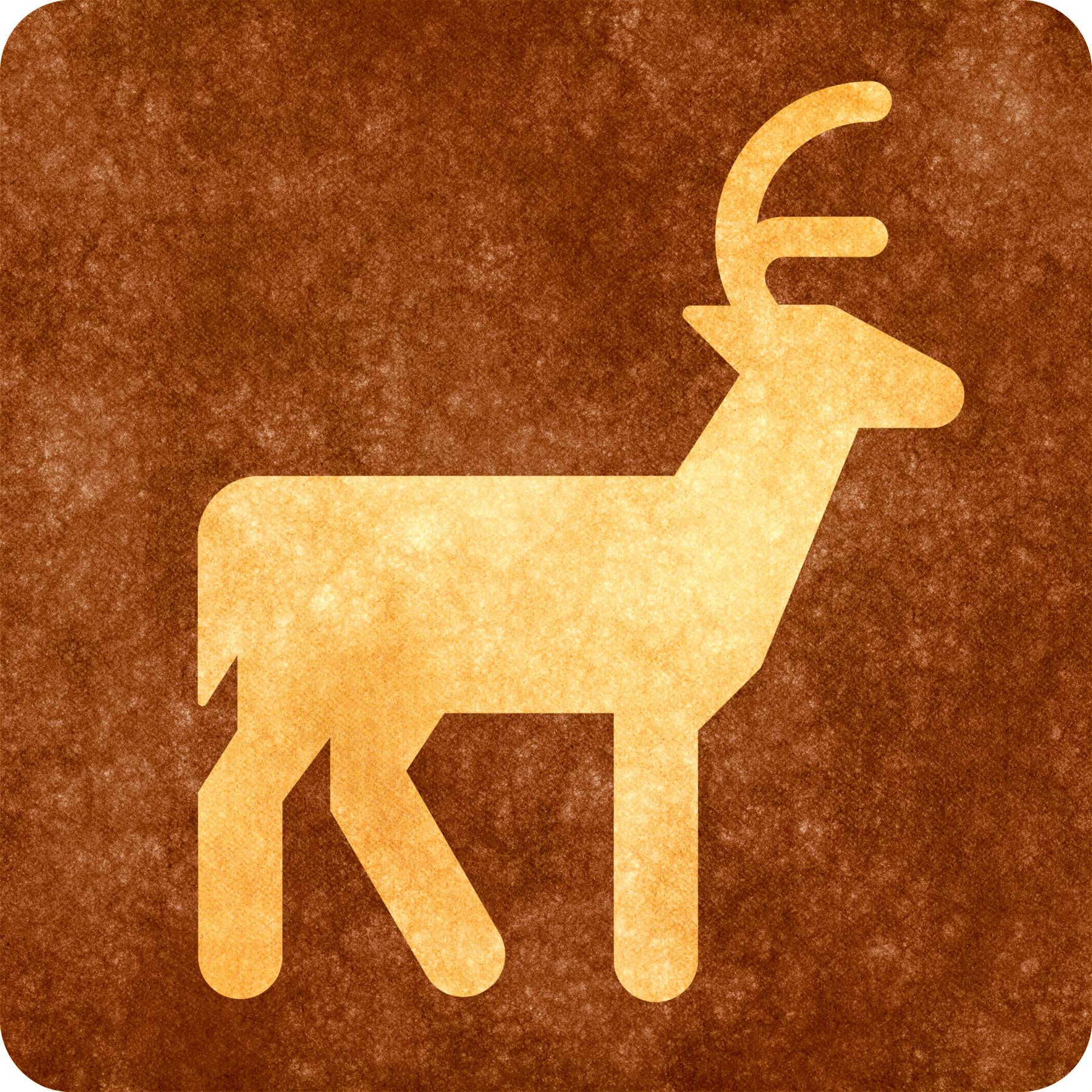 Sepia grunge sign - deer viewing photo