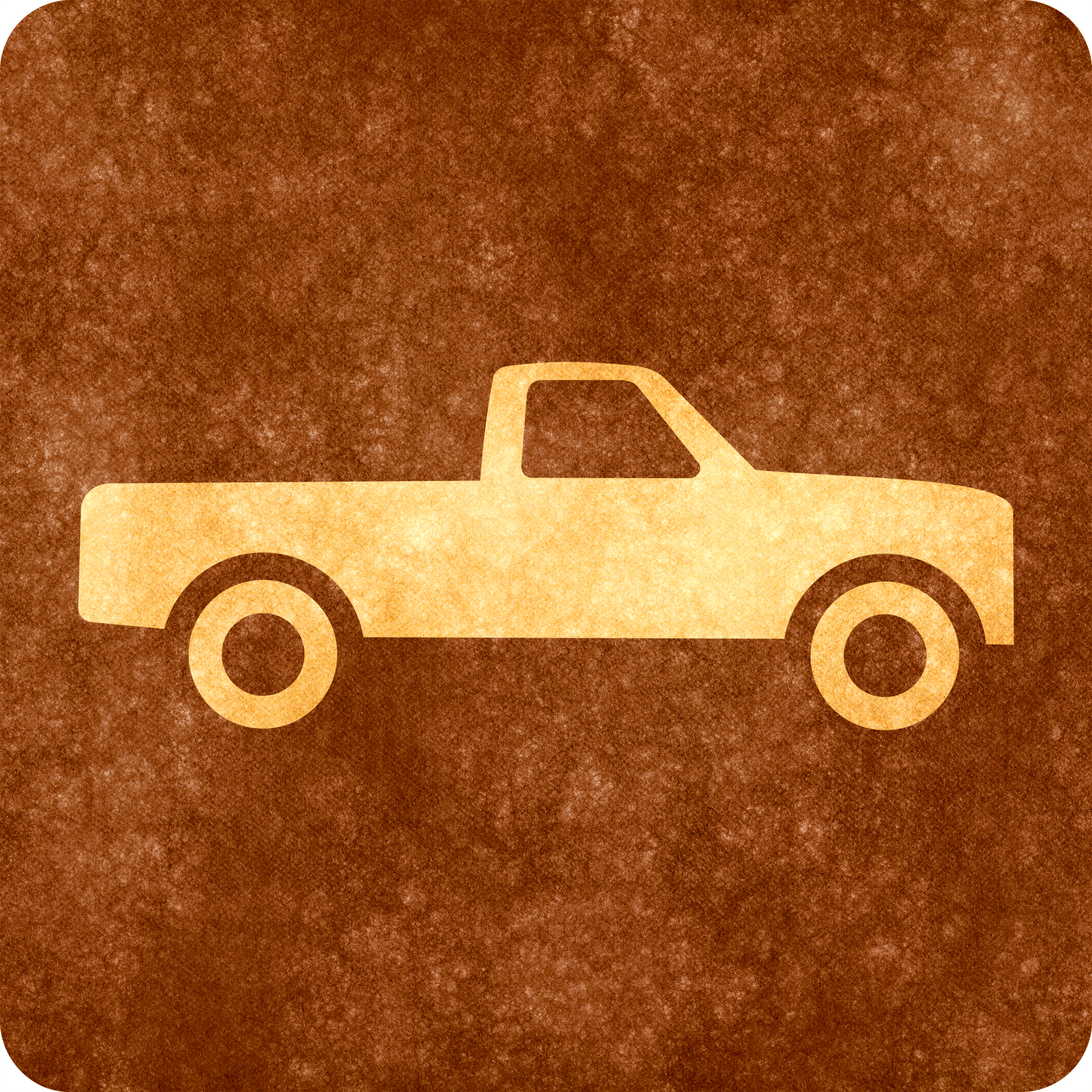 Sepia grunge sign - pick-up truck photo