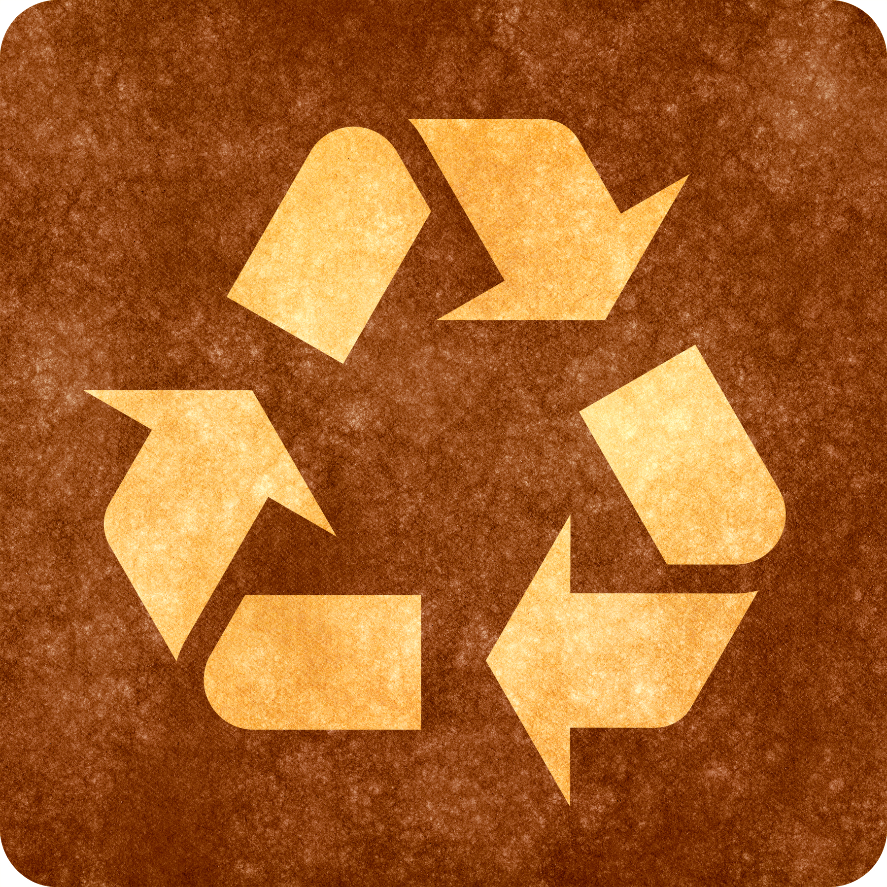 Sepia grunge sign - recycling symbol photo
