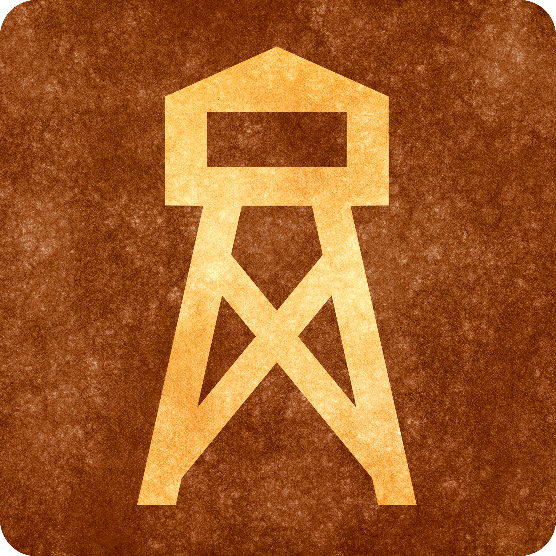 Sepia grunge sign - watch tower photo