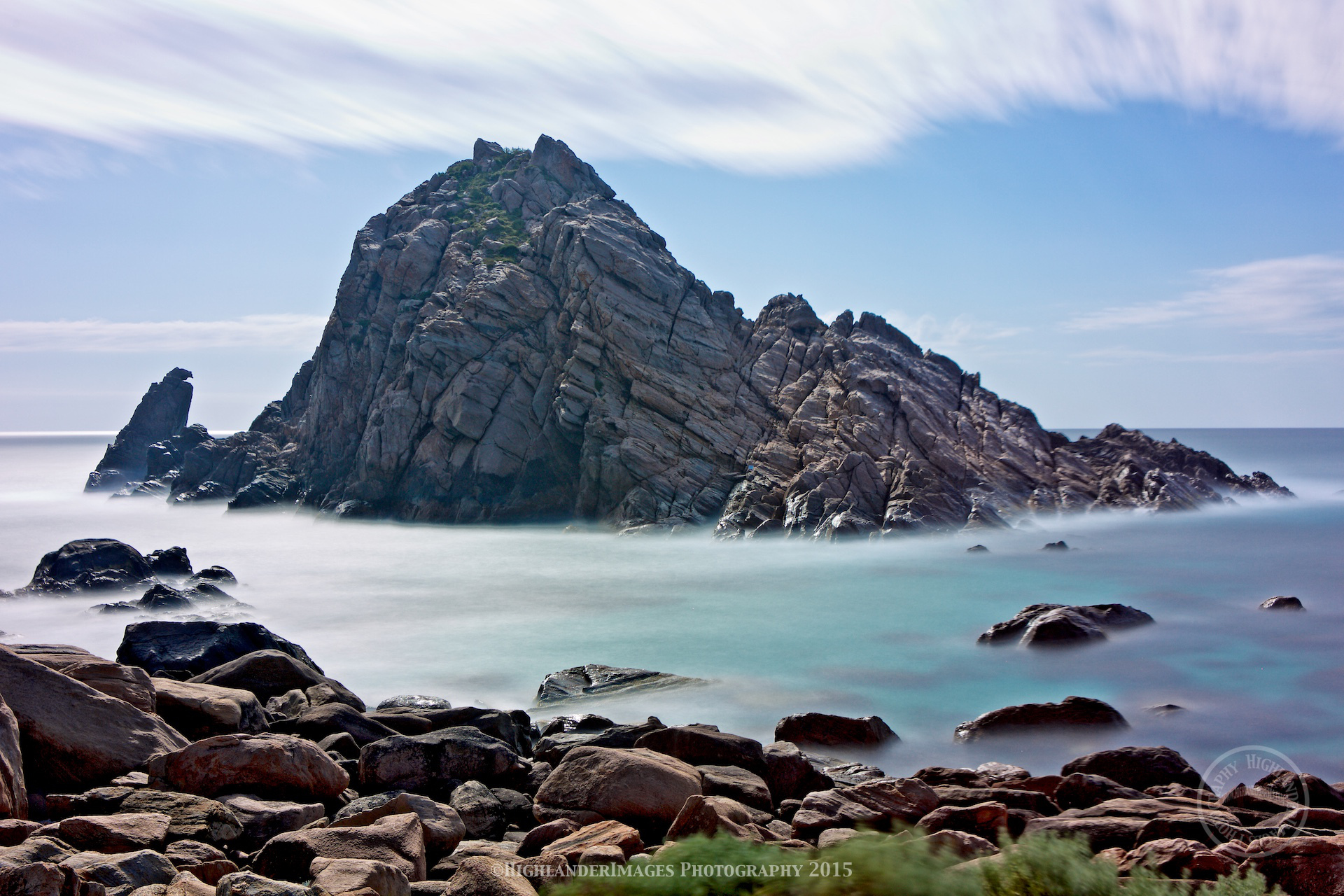 Sepia sand islet photo