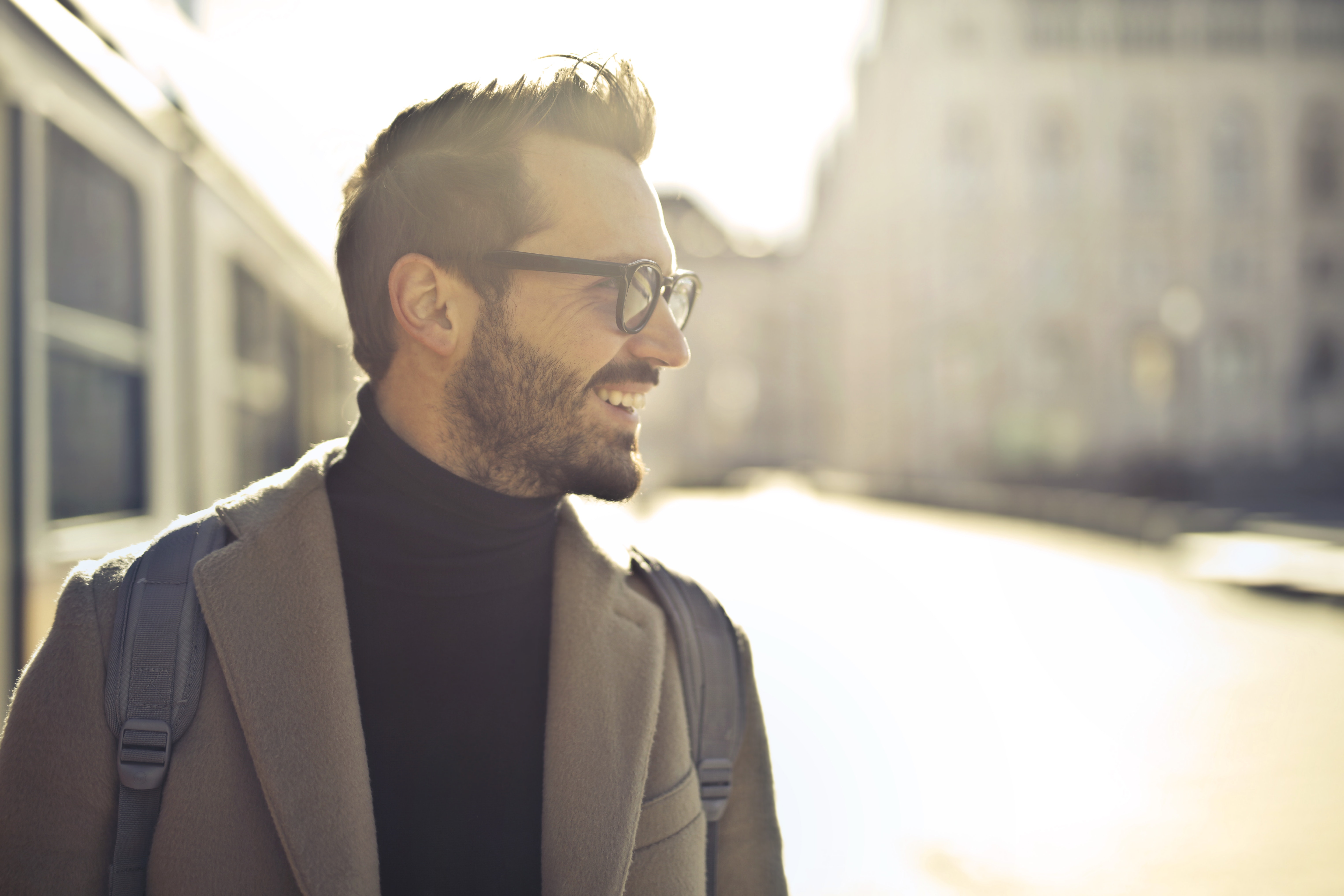 Shallow Focus Photography of Man Wearing Eyeglasses, Backlight, Glasses, White, Wear, HQ Photo