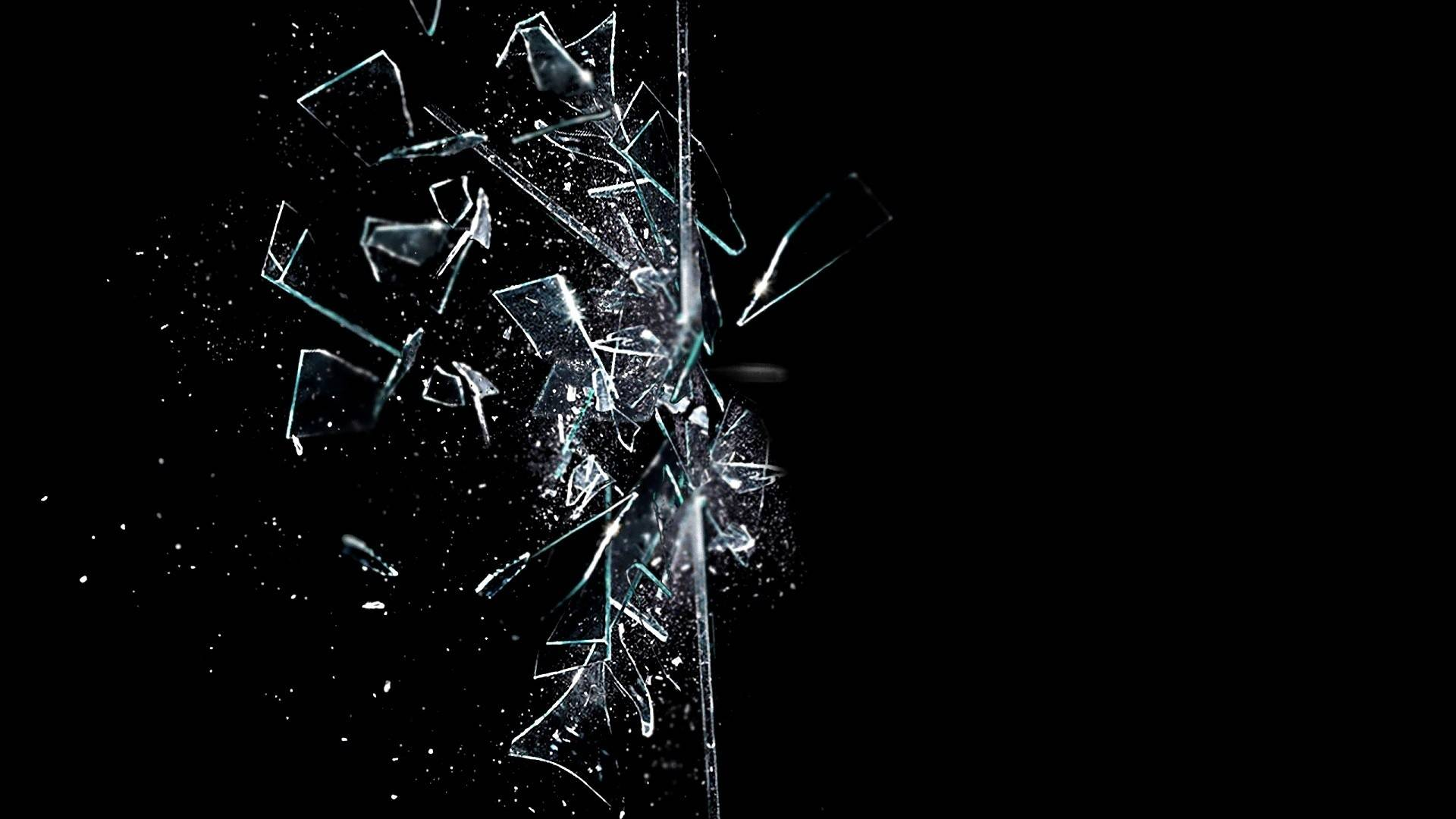 Shattered glass background photo