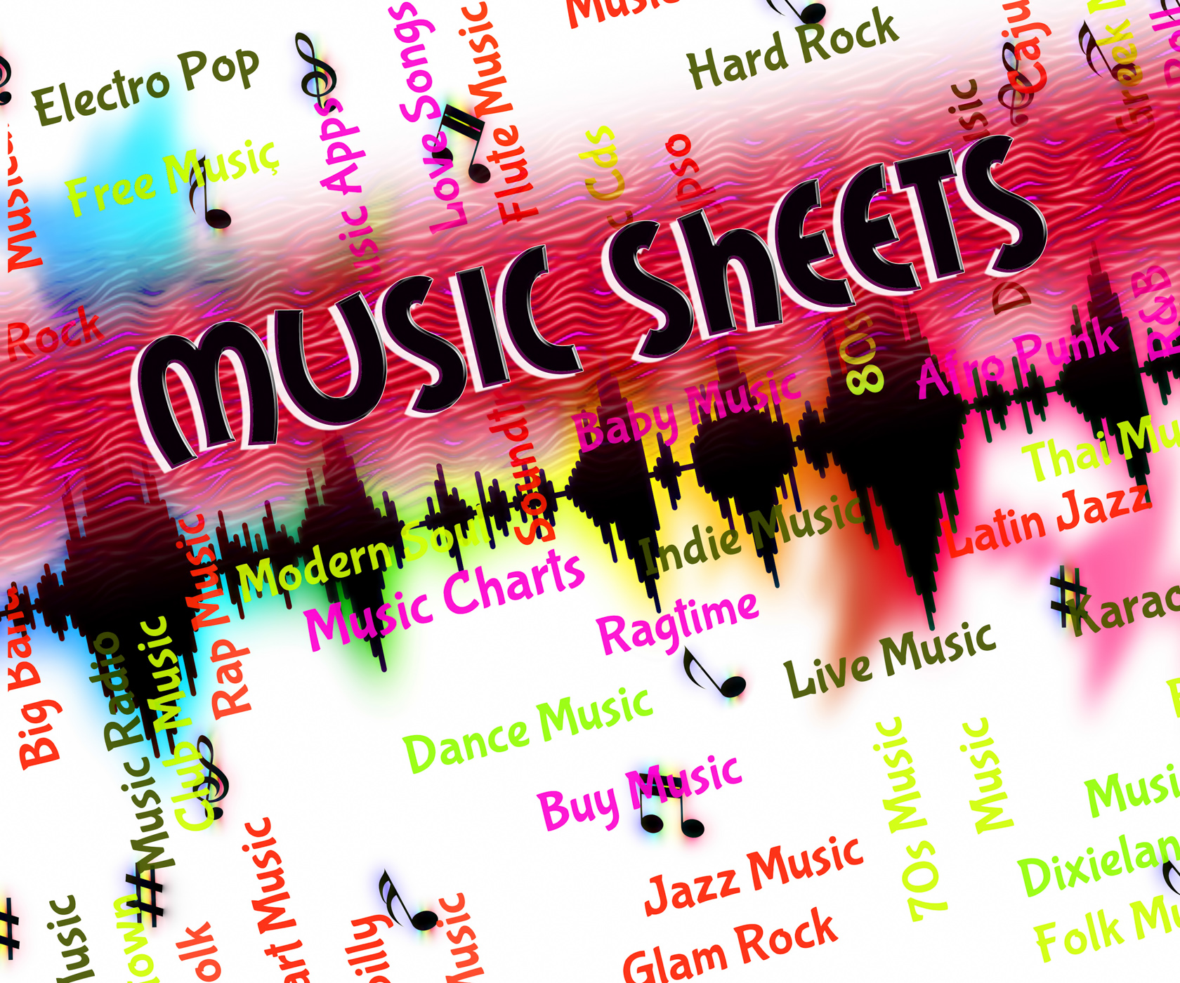 Sheet Music Means Sound Track And Harmony, Acoustic, Sheet, Tune, Track, HQ Photo