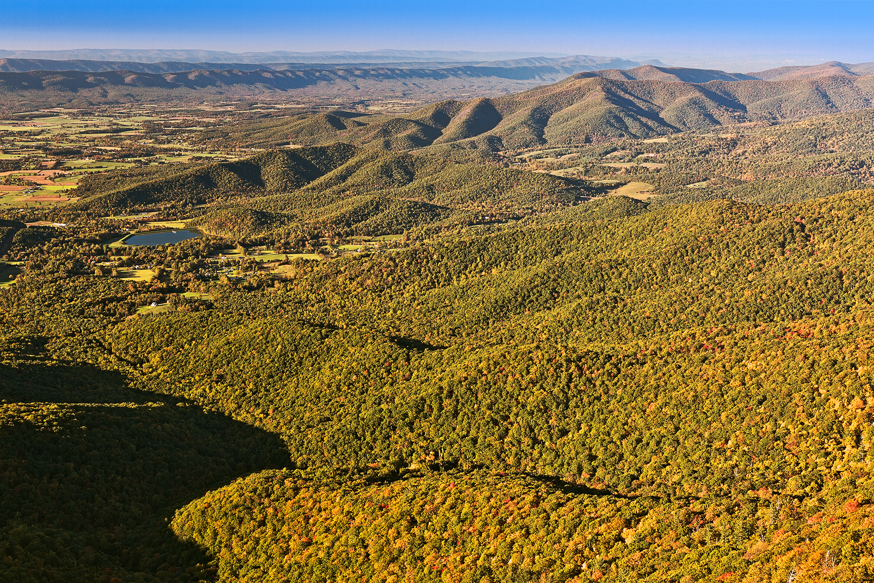 Shenandoah Overlook - HDR, America, Scenery, Shenandoah, Shadows, HQ Photo
