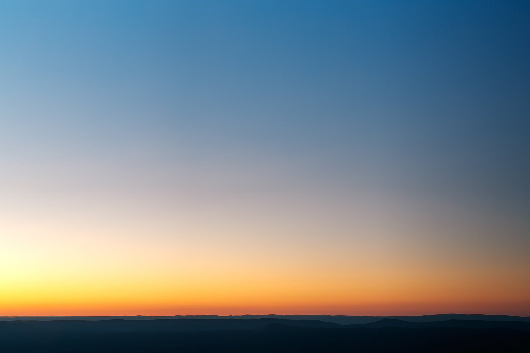 Shenandoah twilight minimalism - hdr photo