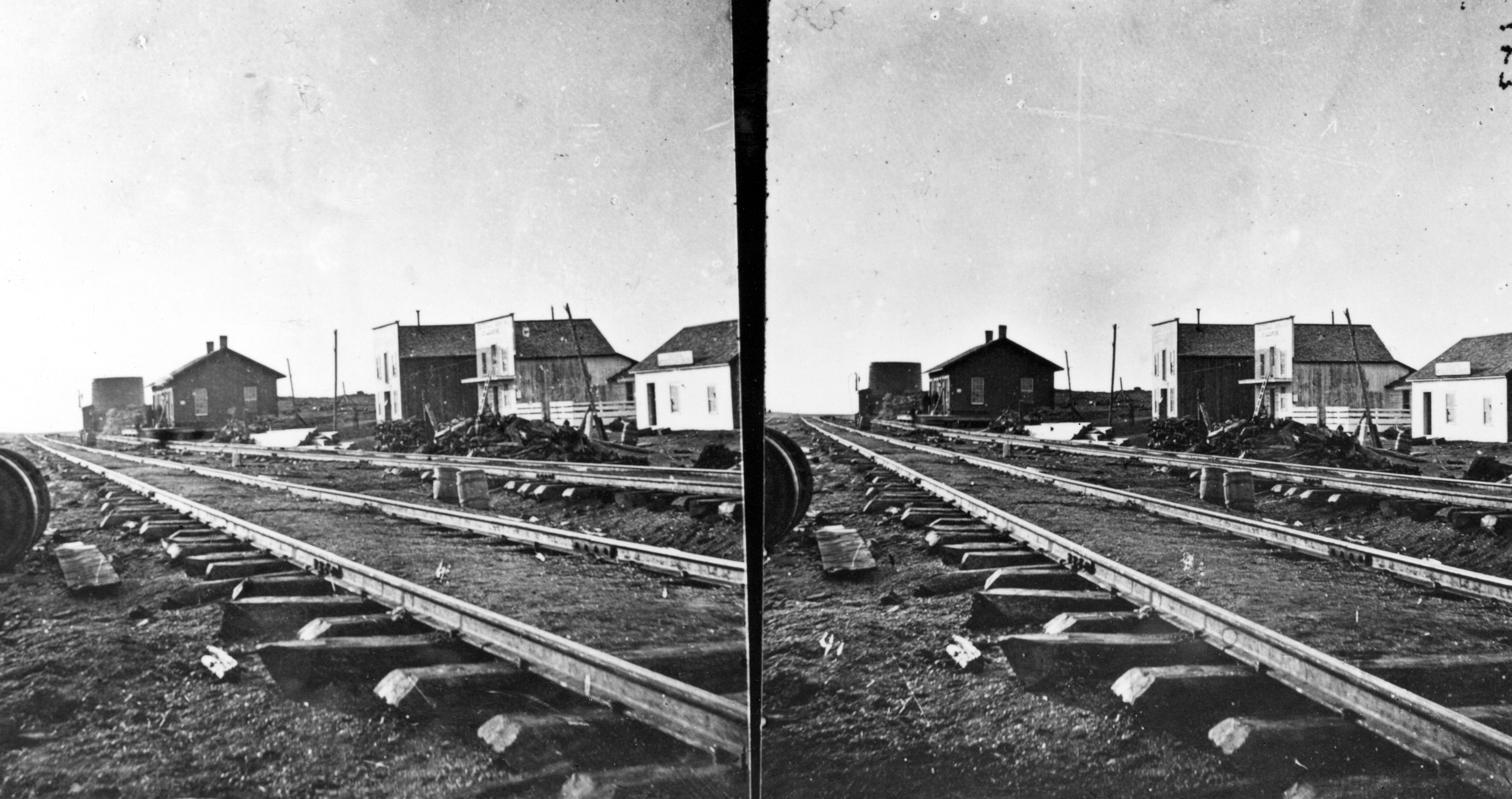 Sherman Station, summit of Black Hills. Albany County, Wyoming. 1869., Blackandwhite, BnW, Geology, Historical, HQ Photo