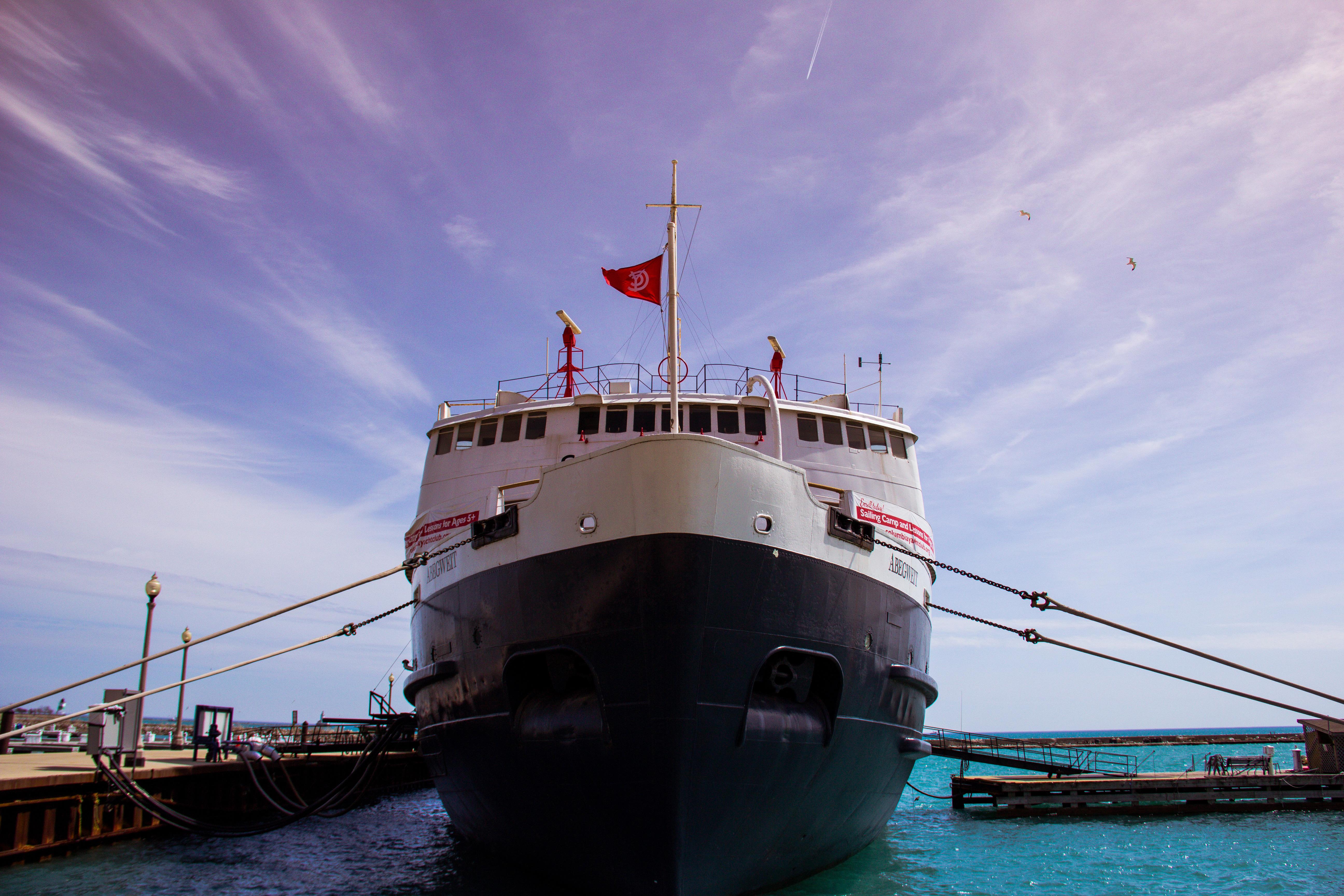 Ship, Big, Blue, Boat, Dock, HQ Photo