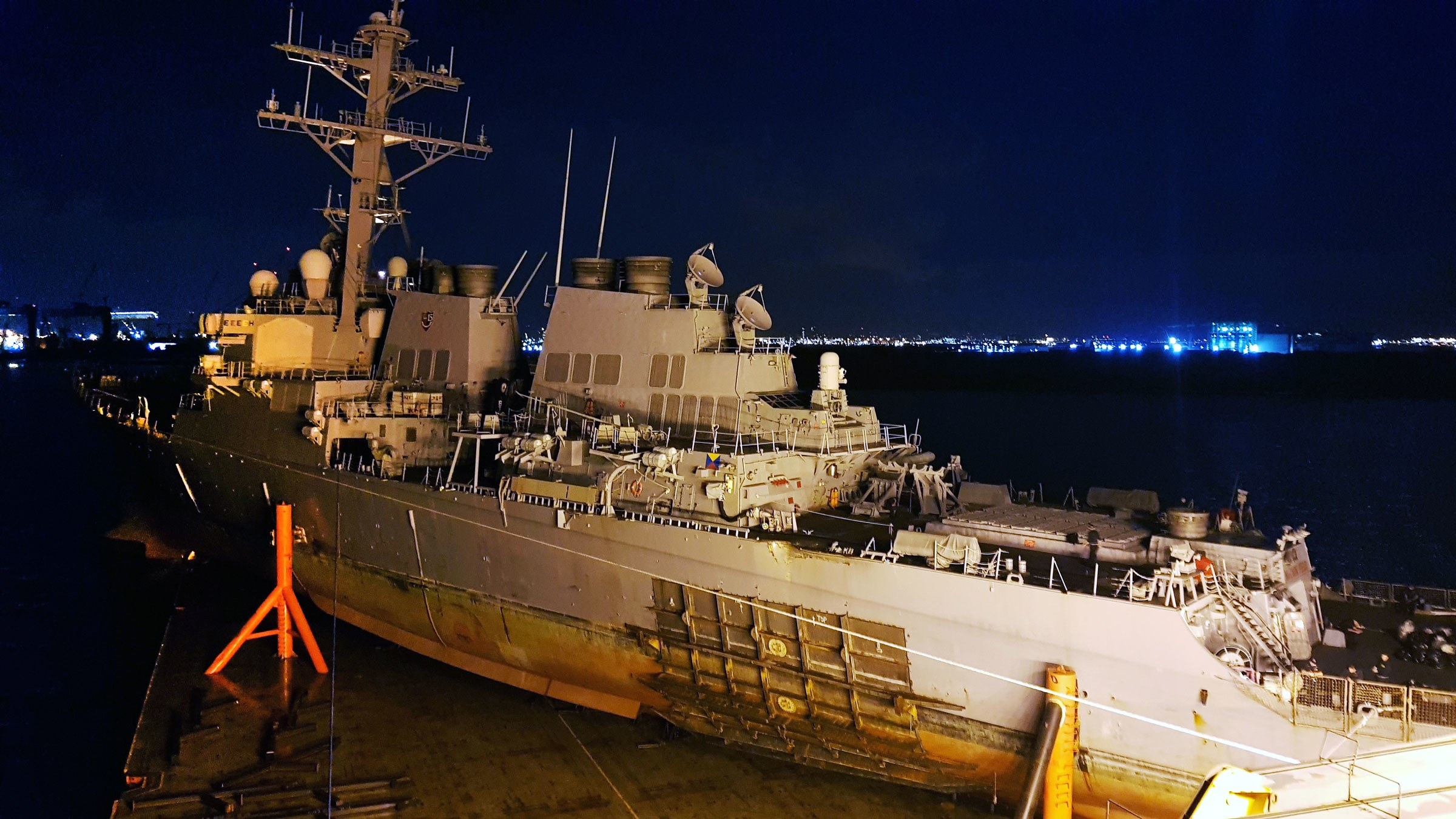 How a Heavy Lift Ship Rescued the Damaged USS John S McCain | WIRED