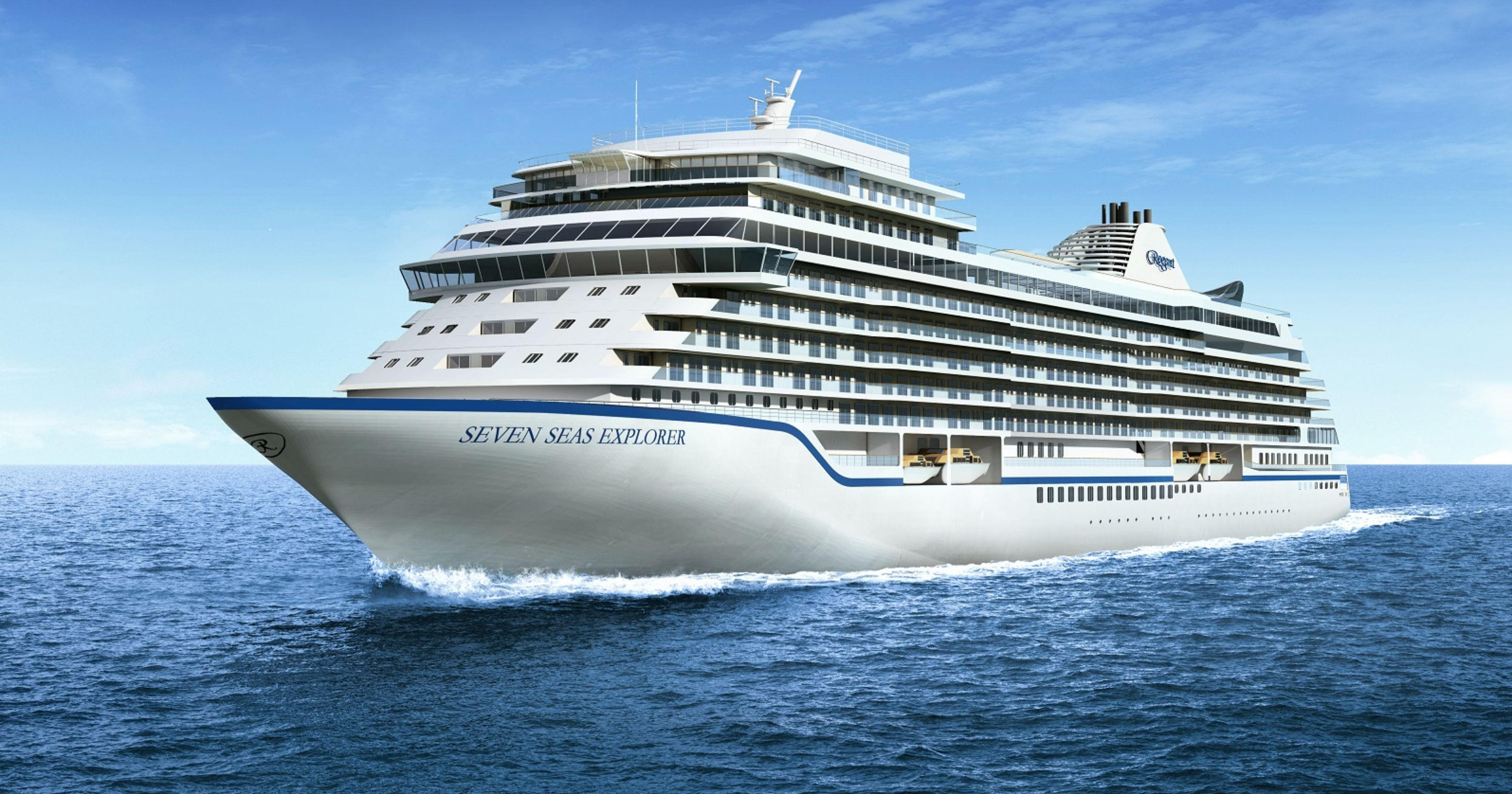 It floats! 'World's most luxurious' cruise ship takes to the water