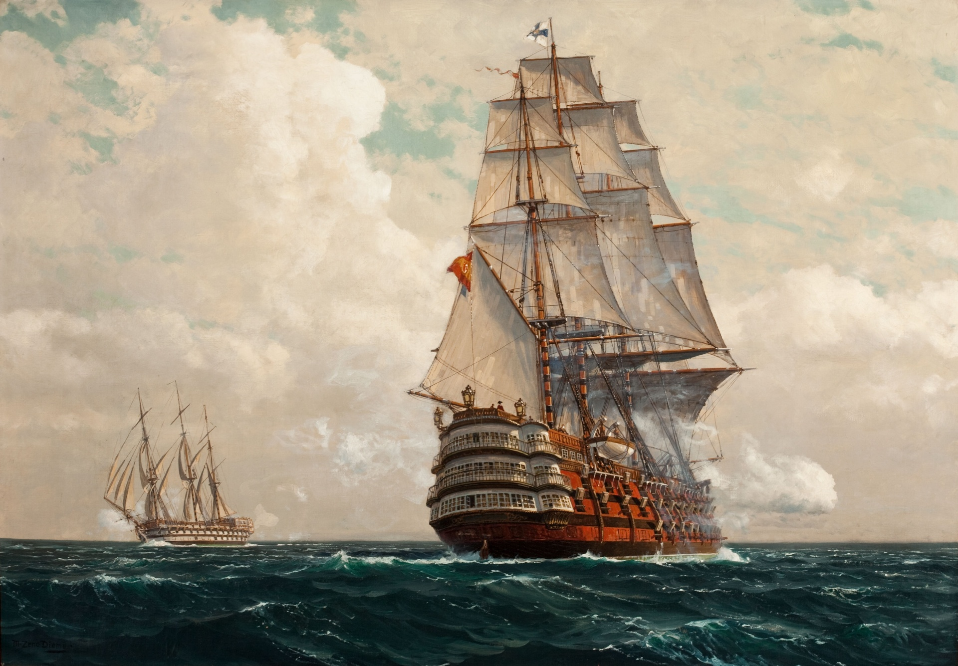 Ship At Sea Free Stock Photo - Public Domain Pictures