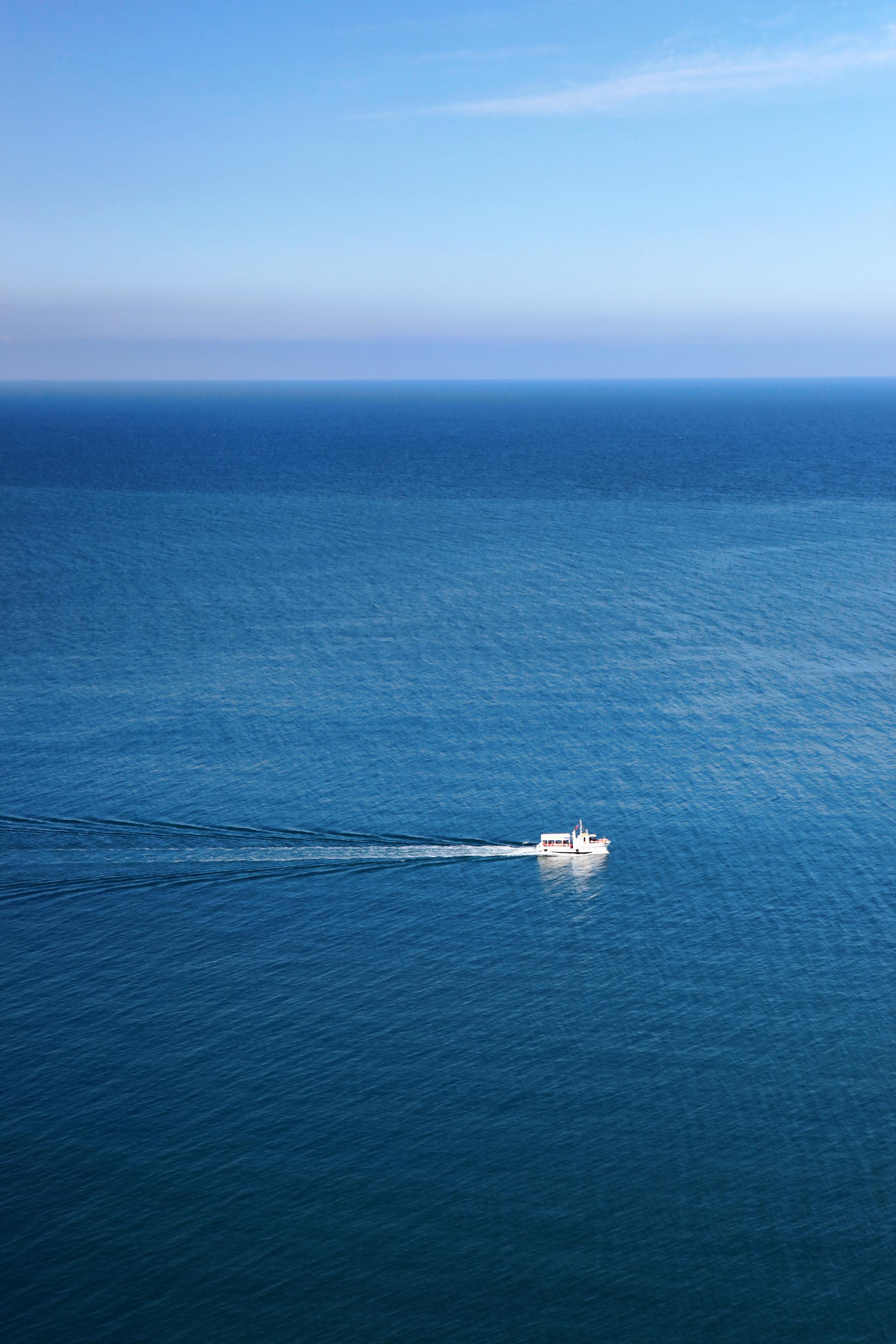 ship at sea, Blue, Scene, Water, Vessel, HQ Photo