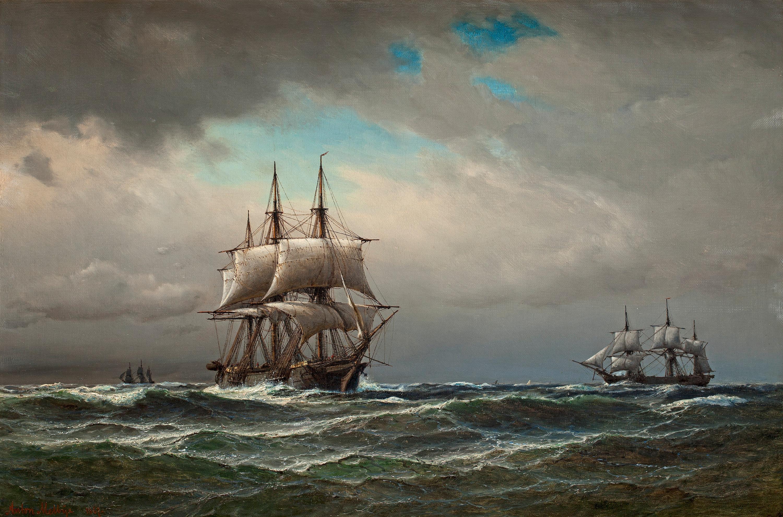 ANTON MELBYE, Ships at sea. - Bukowskis