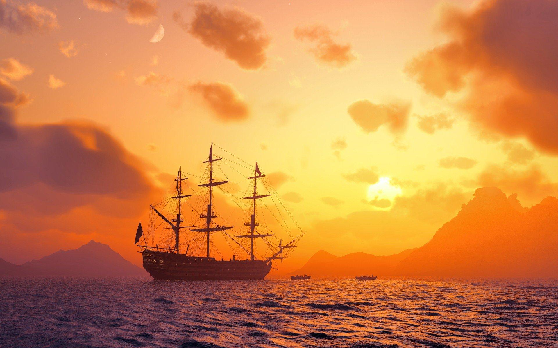 Ship At Sea 561530 - WallDevil