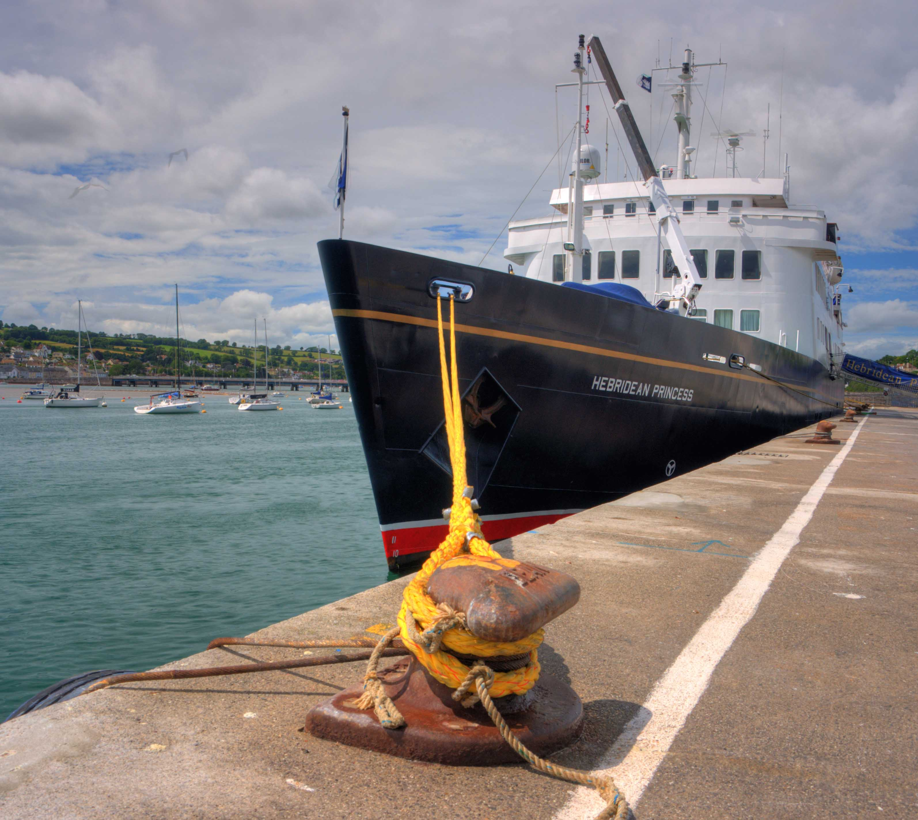 Port of Teignmouth welcomes its first cruise ship | Associated ...