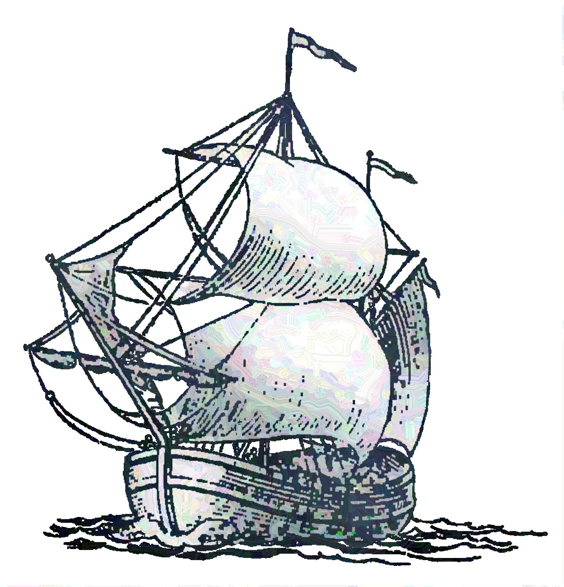 Ship in the sea photo