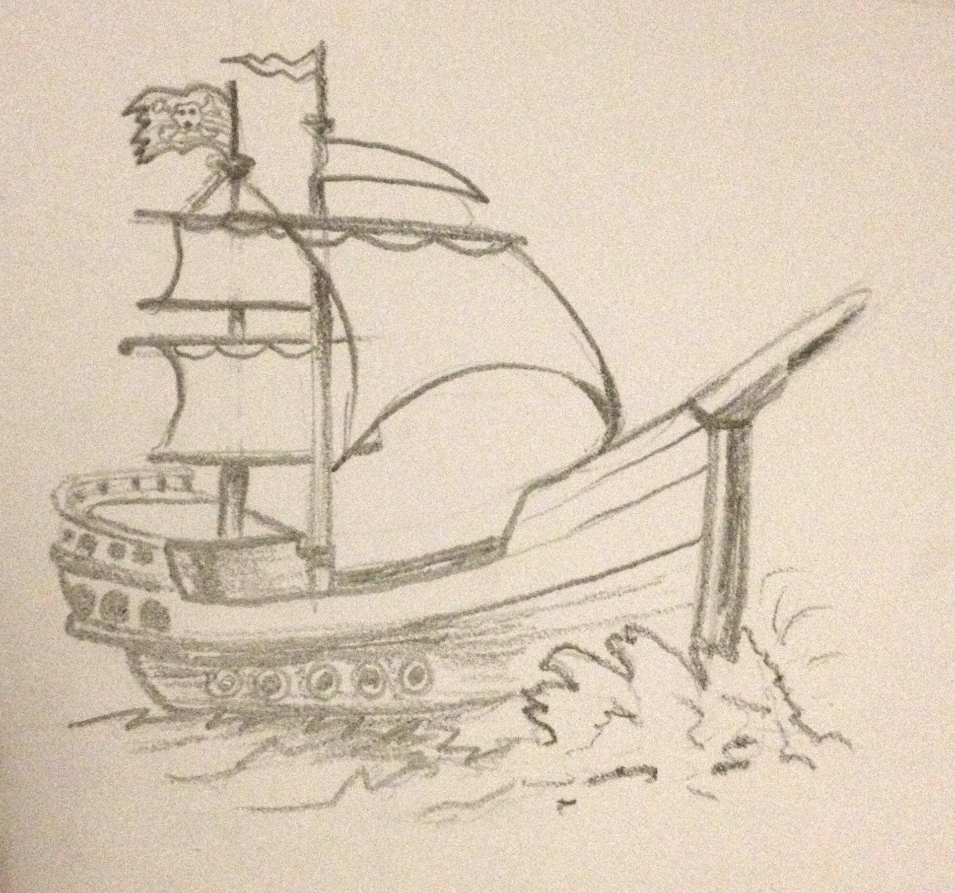 Pencil Sketches Of Ships Pencil Sketches Of Ships Ship Pencil ...