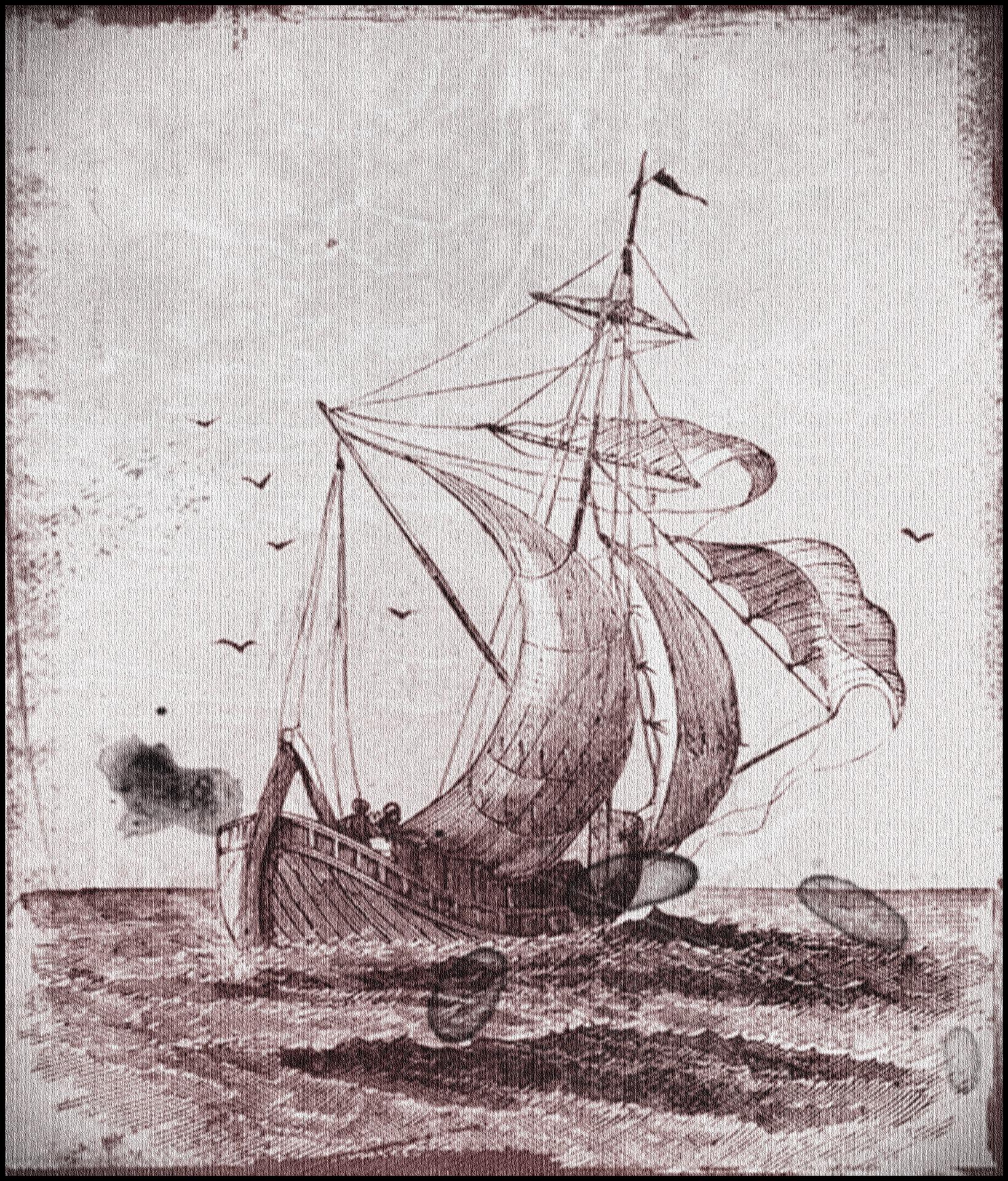 Ship Sketch, Art, Boat, Journey, Paint, HQ Photo