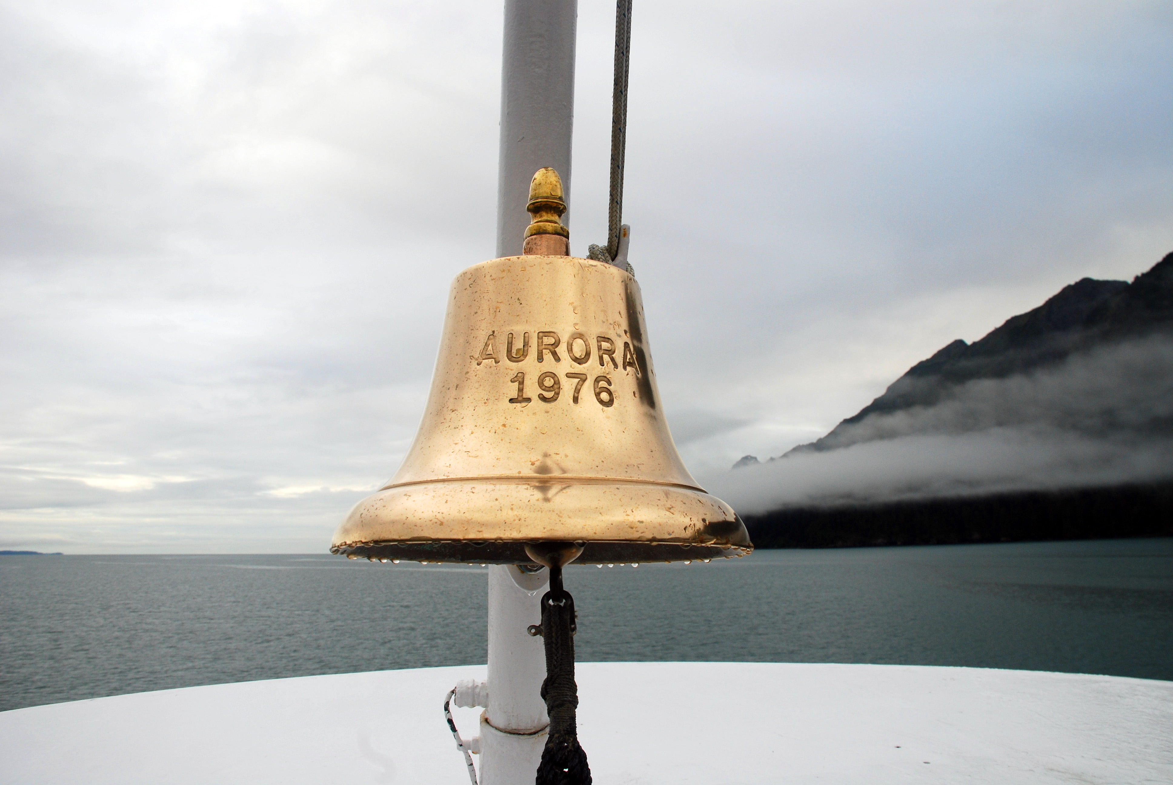 Ship's Bell of the Aurora : Travel Wallpaper and Stock Photo
