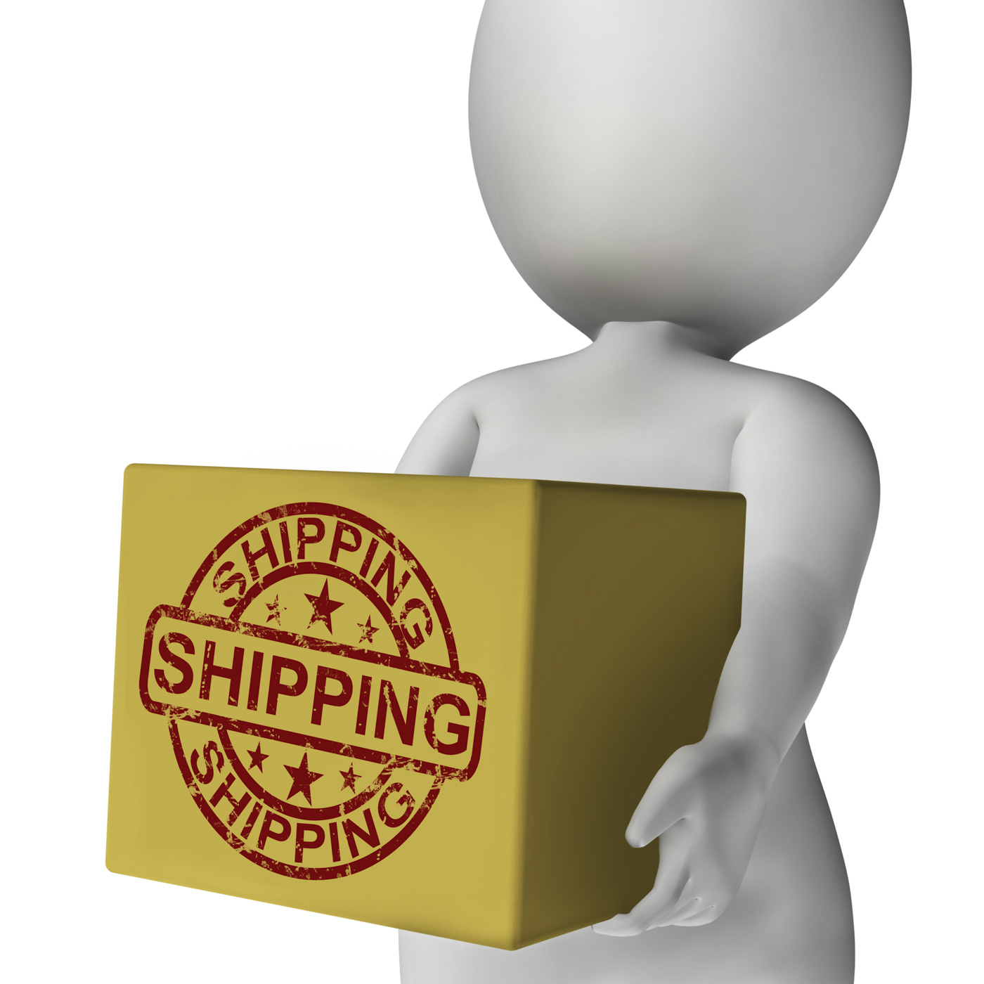Shipping box means international transport of goods and products photo