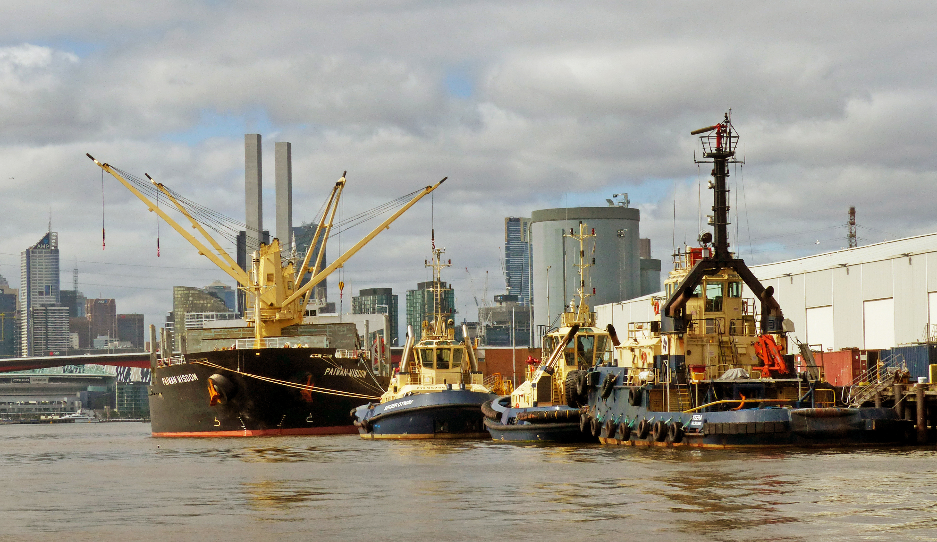 Shipping Port of Melbourne Aust., Boat, Port, Vessel, Tug Boats, HQ Photo