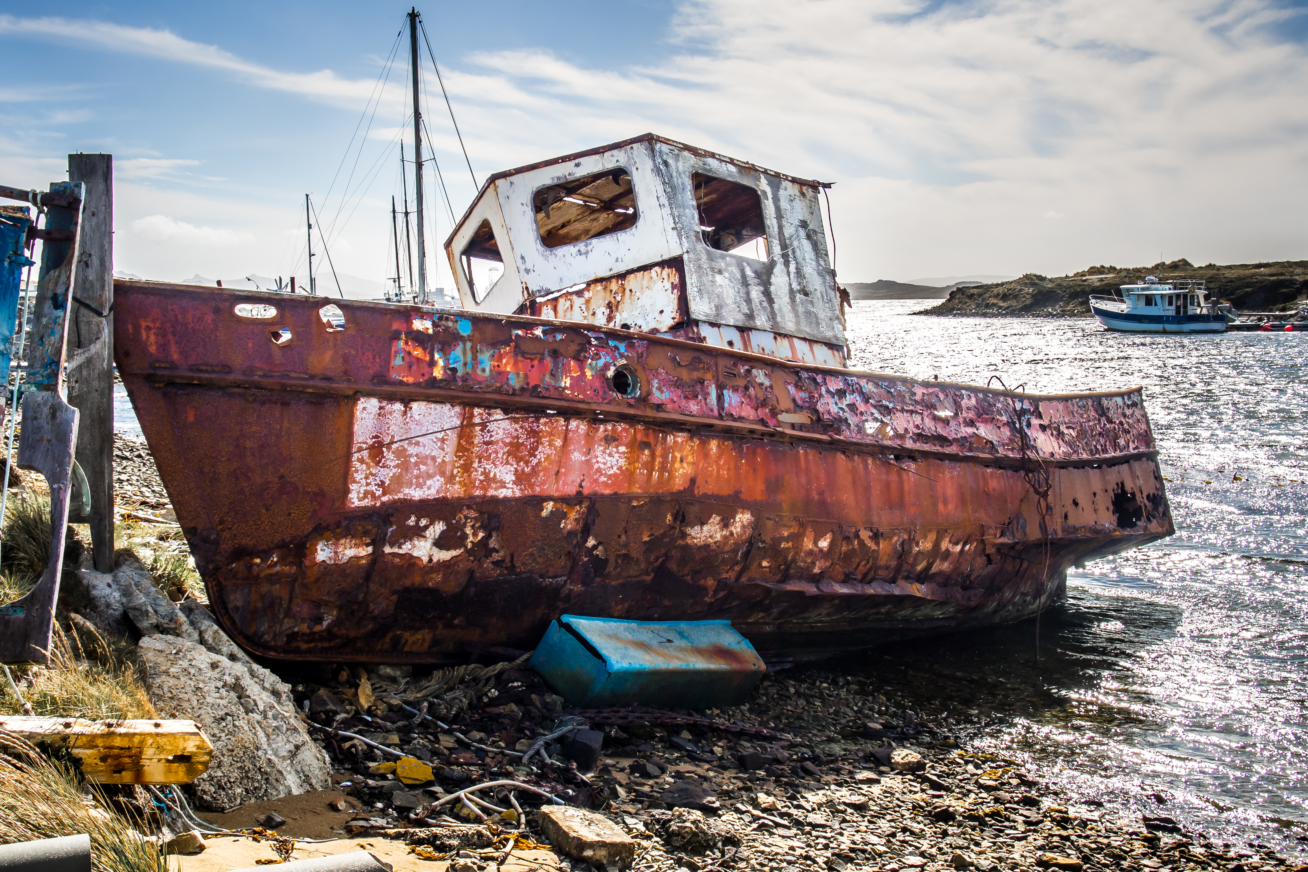 Shipwreck, Abandoned, Summer, Sand, Scenery, HQ Photo