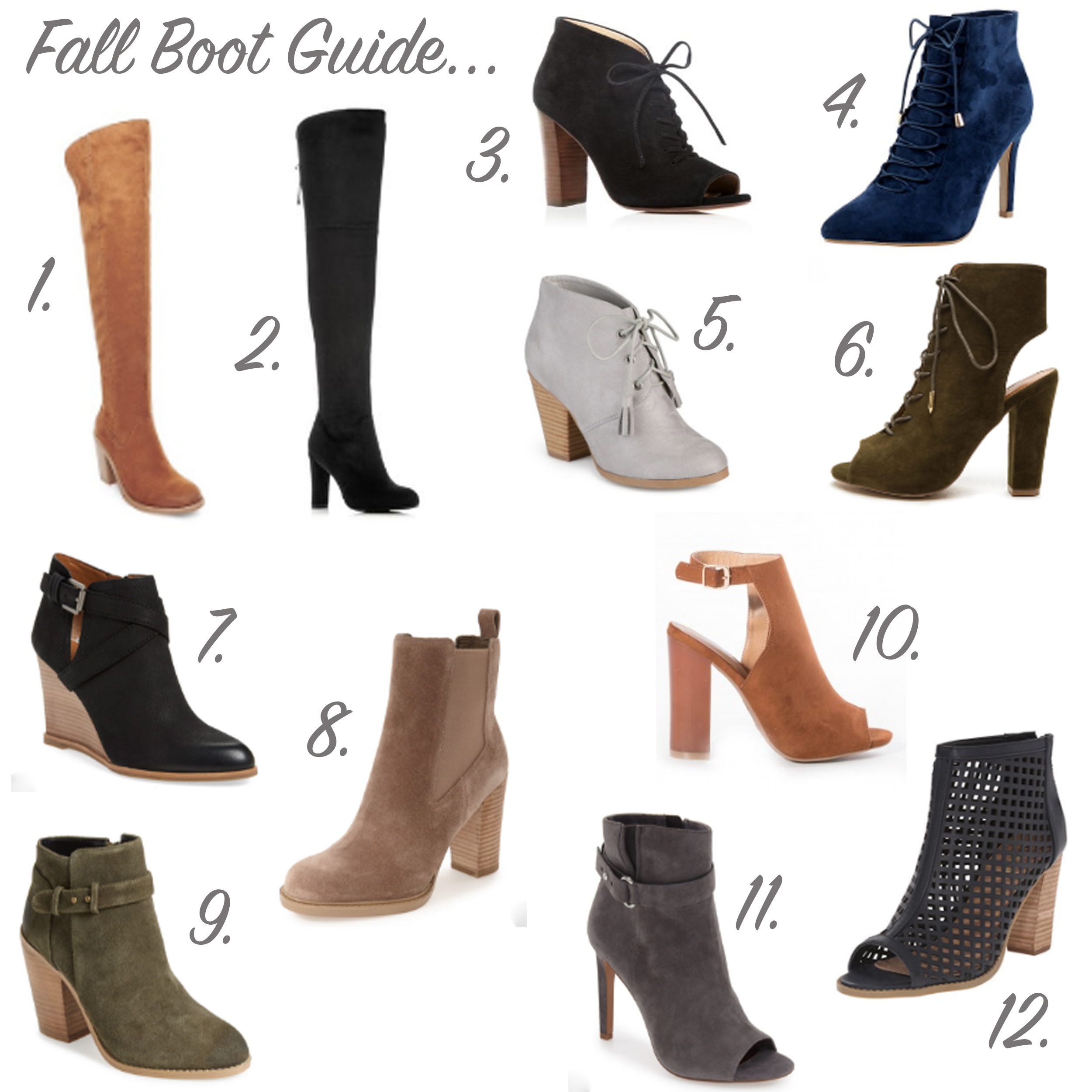 Fall 2016 Boot Guide - OTK Boots + Ankle Boots | Missy On Madison