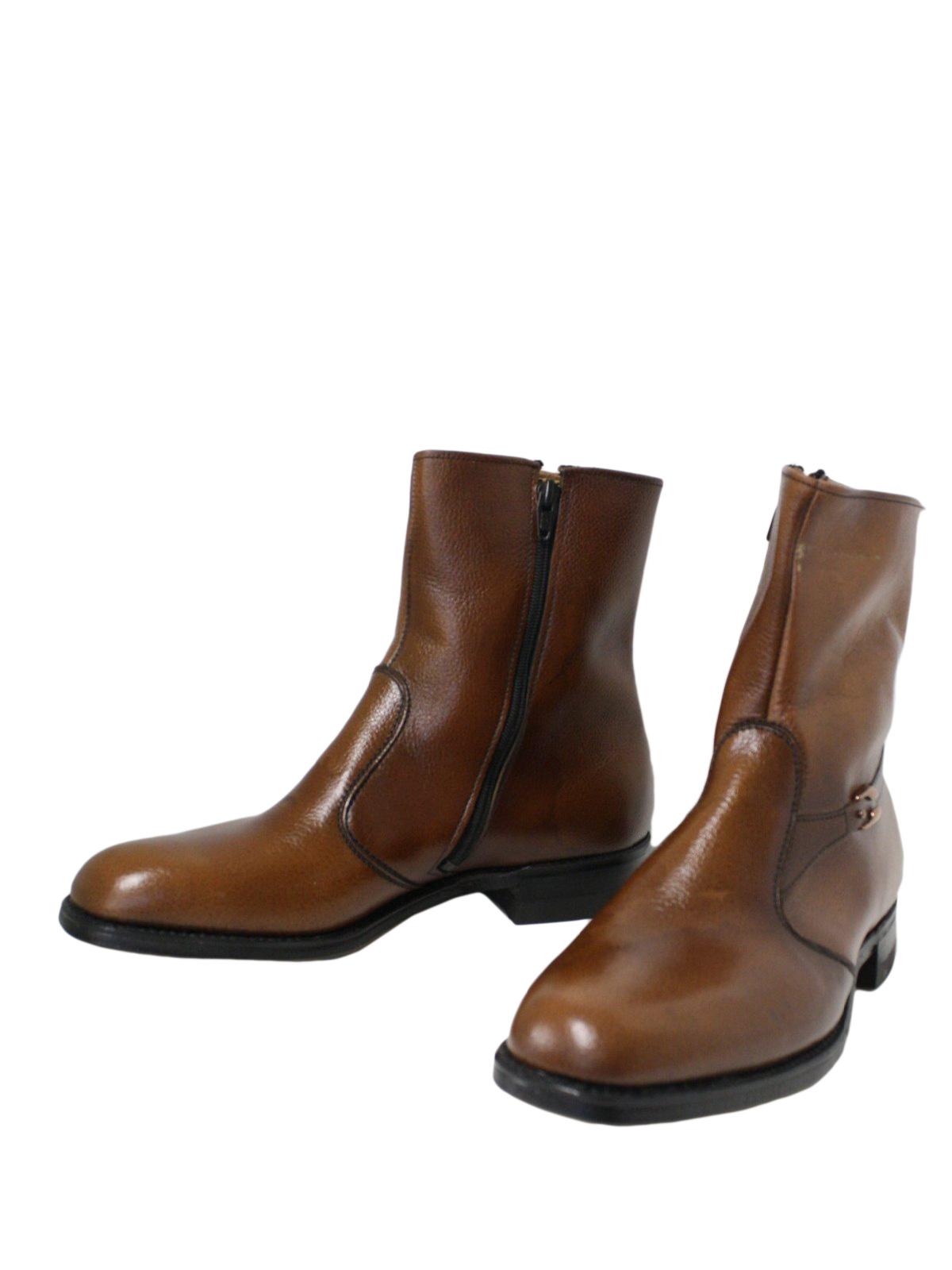 Retro 70's Shoes: 70s -Stacy Adams- Mens brown leather ankle length ...
