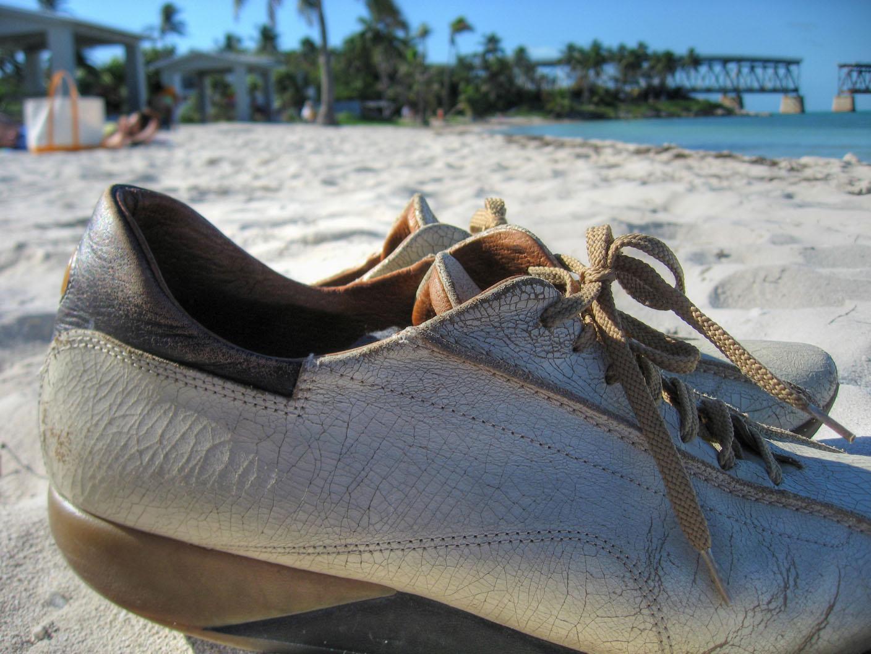 Shoes on bahia honda state park photo