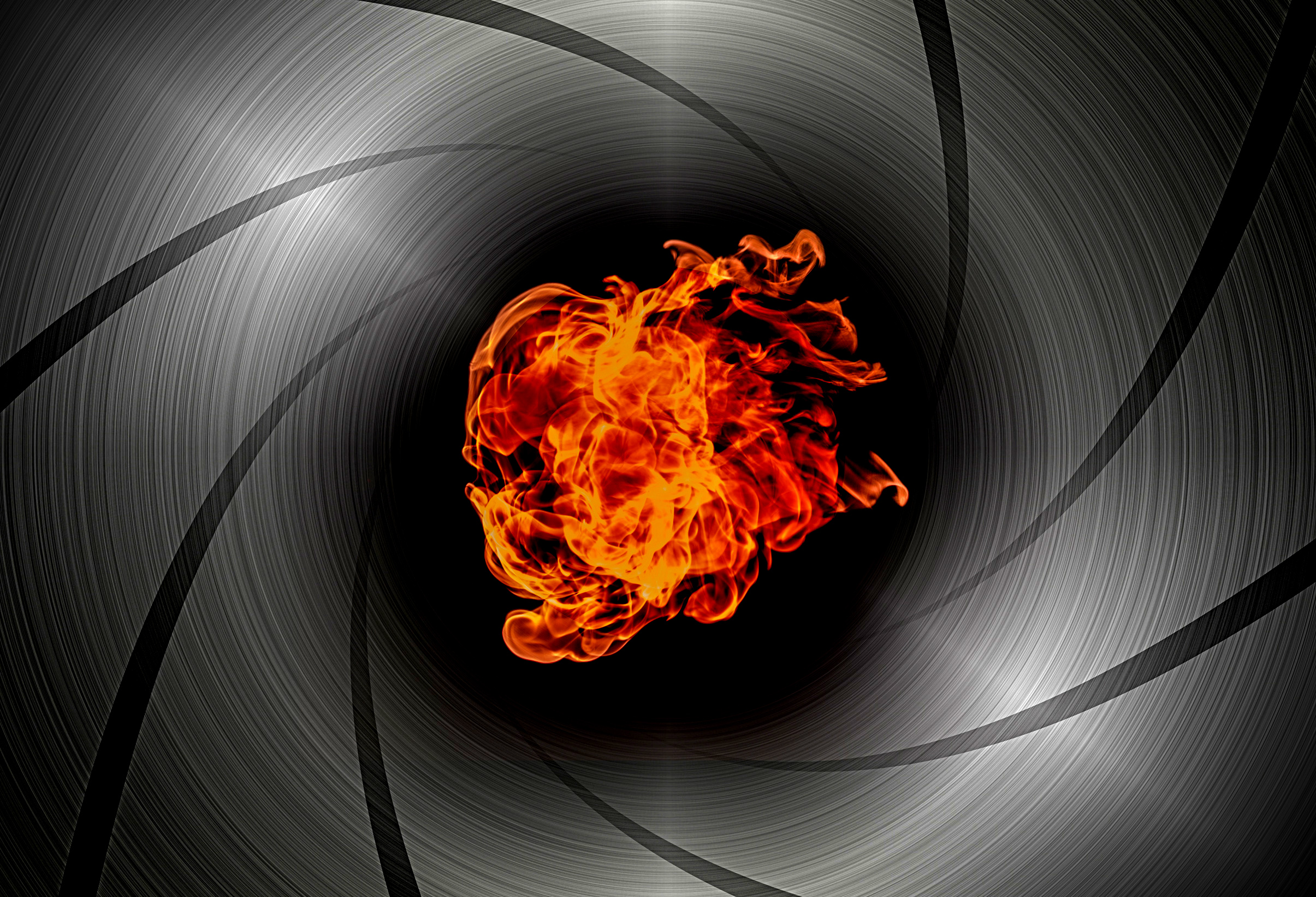 Shooting through the barrel of a gun - flame burst photo
