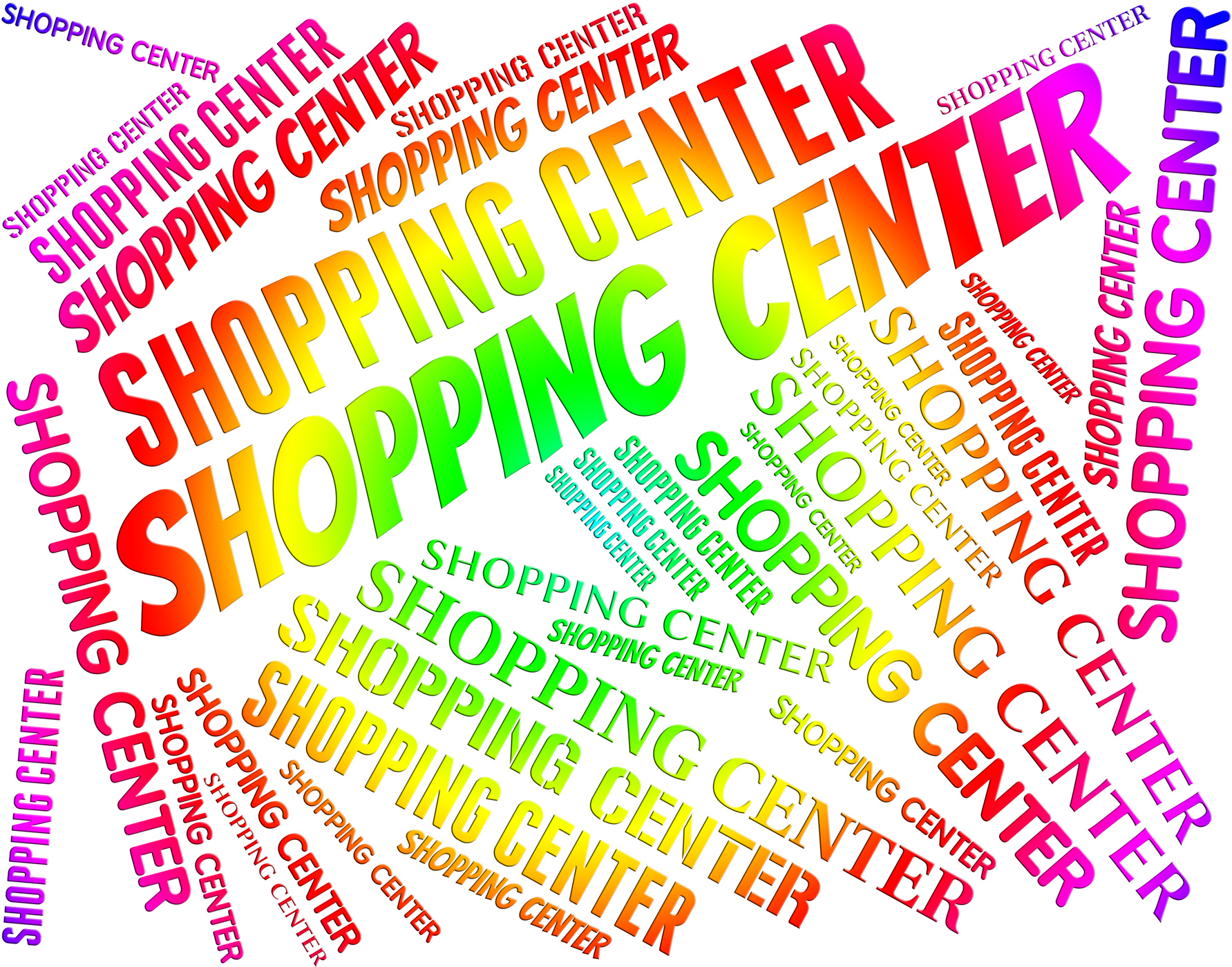 Shopping center shows retail sales and commerce photo