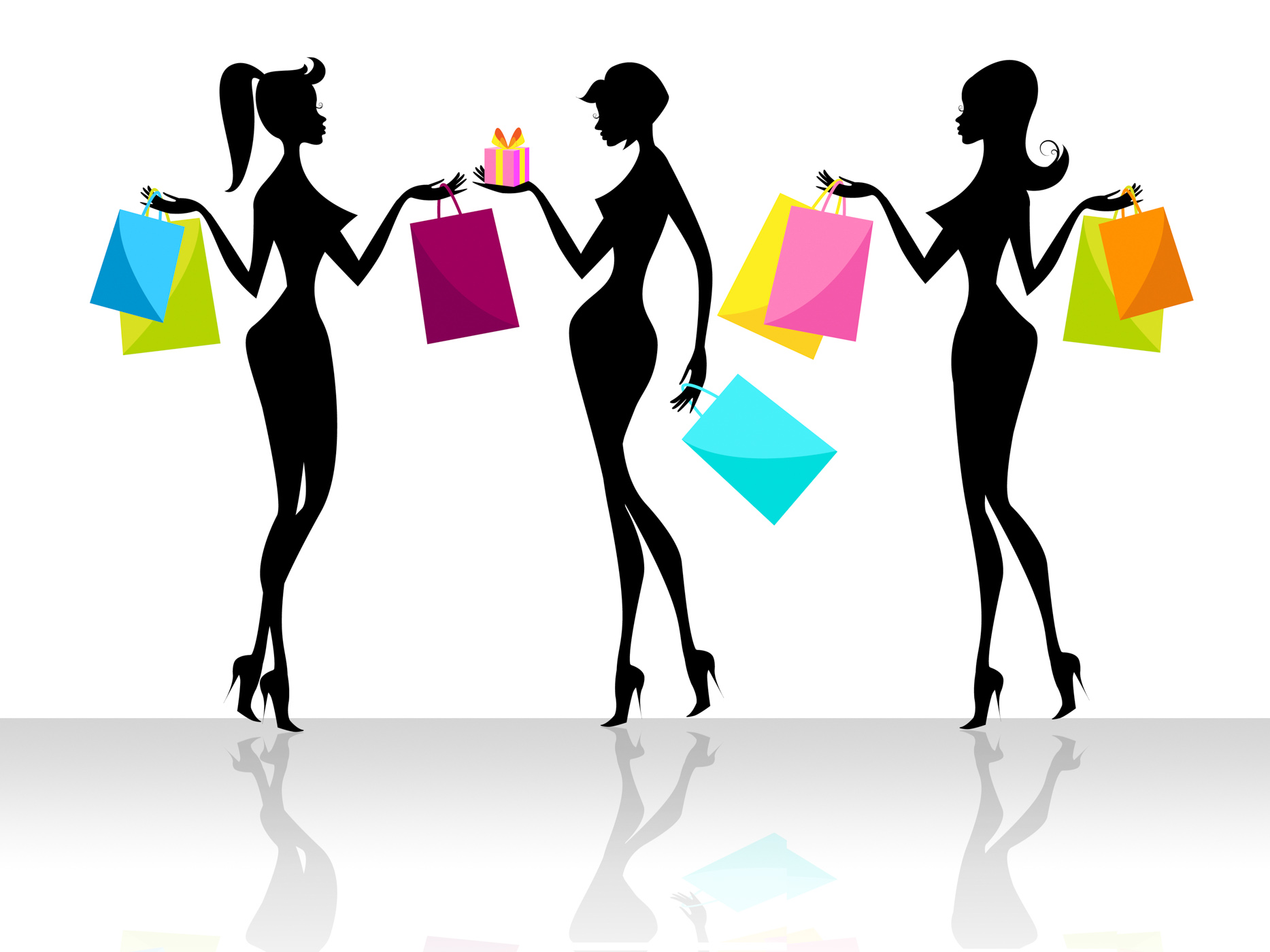 Shopping shopper indicates retail sales and adult photo