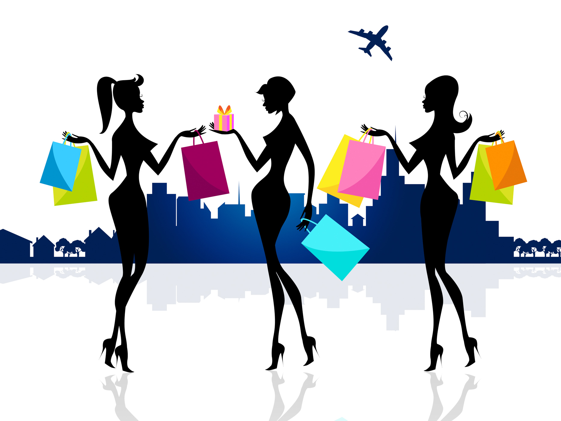 Shopping shopper shows retail sales and adults photo