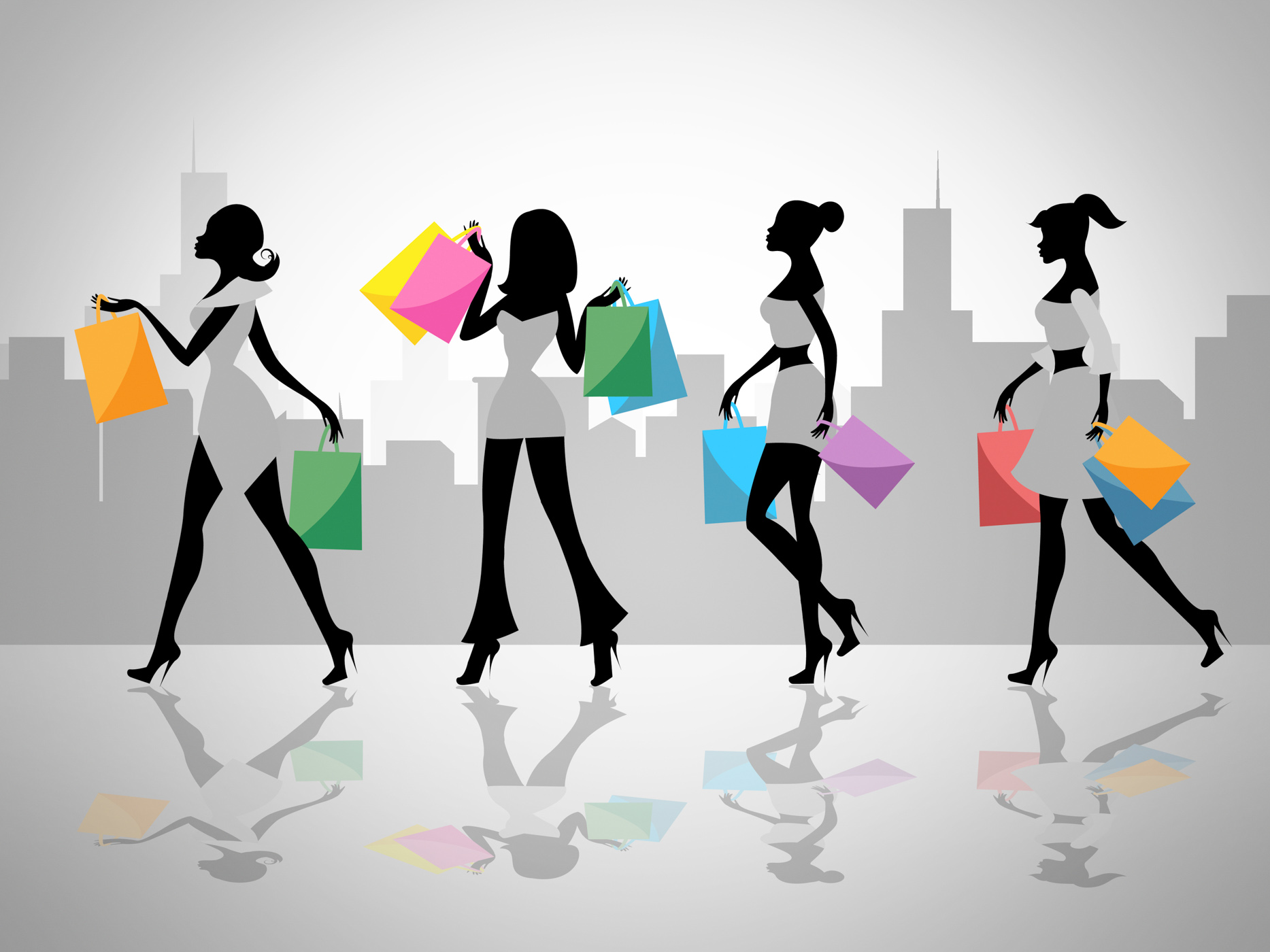 Shopping women shows retail sales and adult photo
