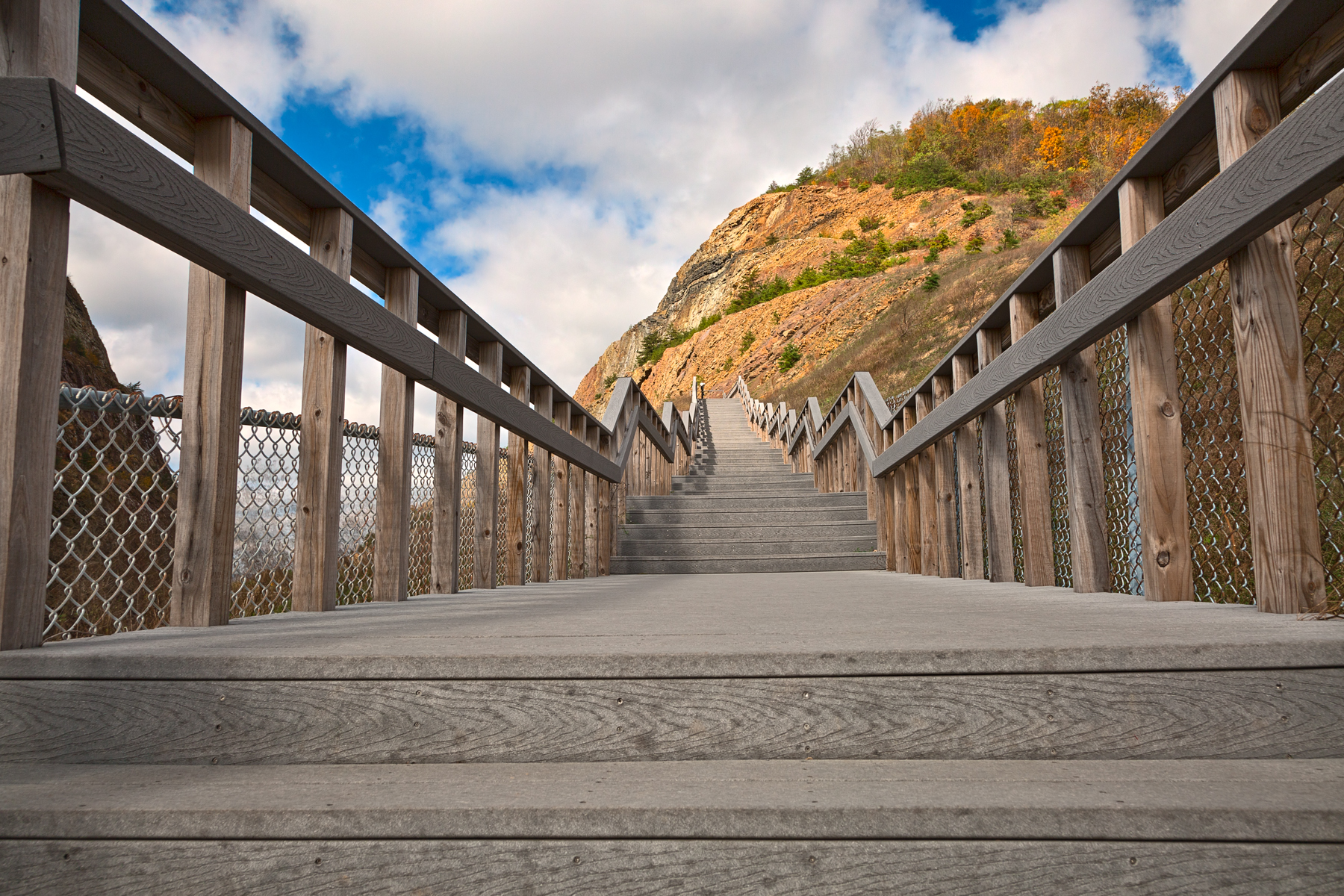 Sideling hill stairway - hdr photo