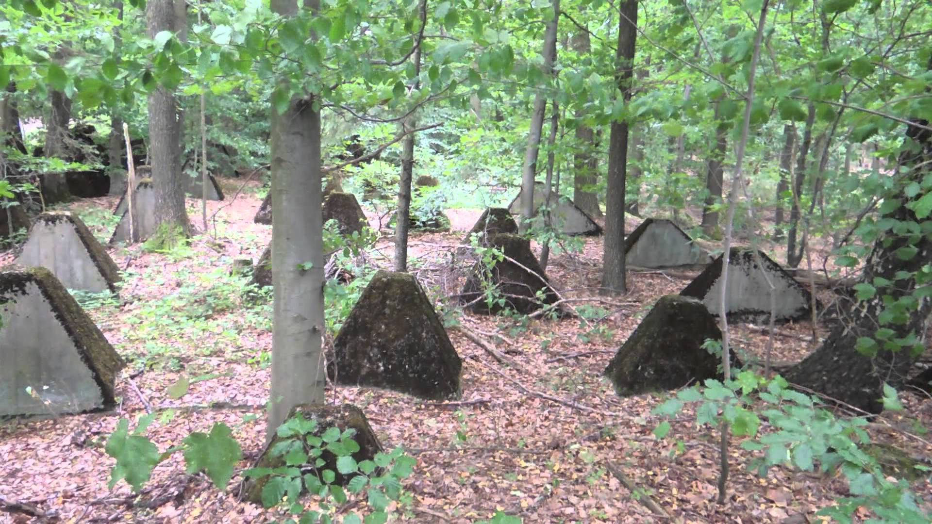 Westwall near Aachen (tank traps) - Siegfried Line - YouTube