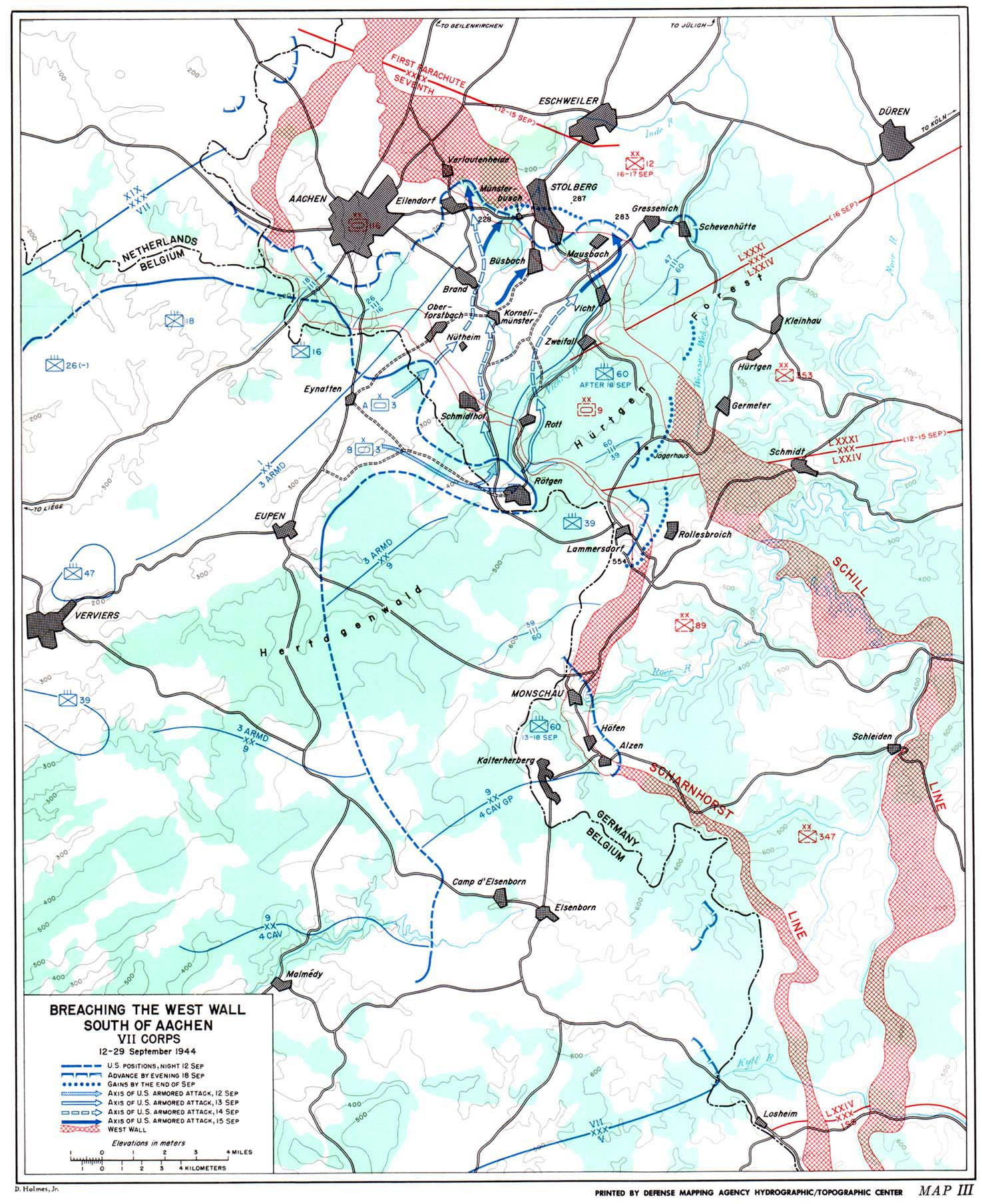The Siegfried Line Campaign: Maps