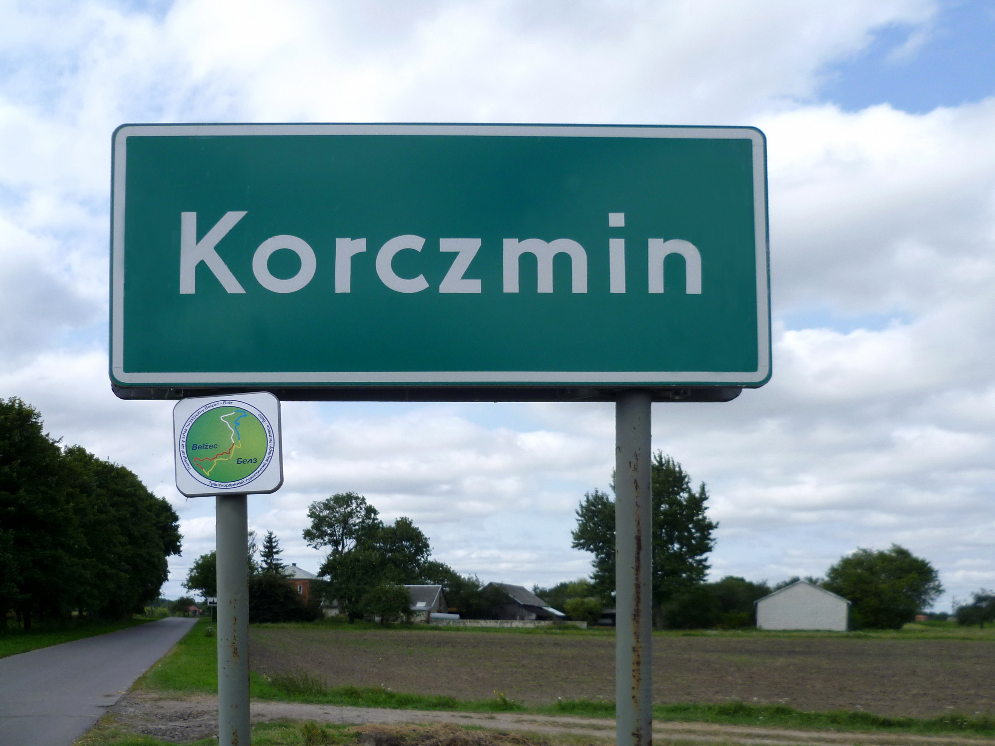 File:Korczmin-sign board of village.jpg - Wikimedia Commons