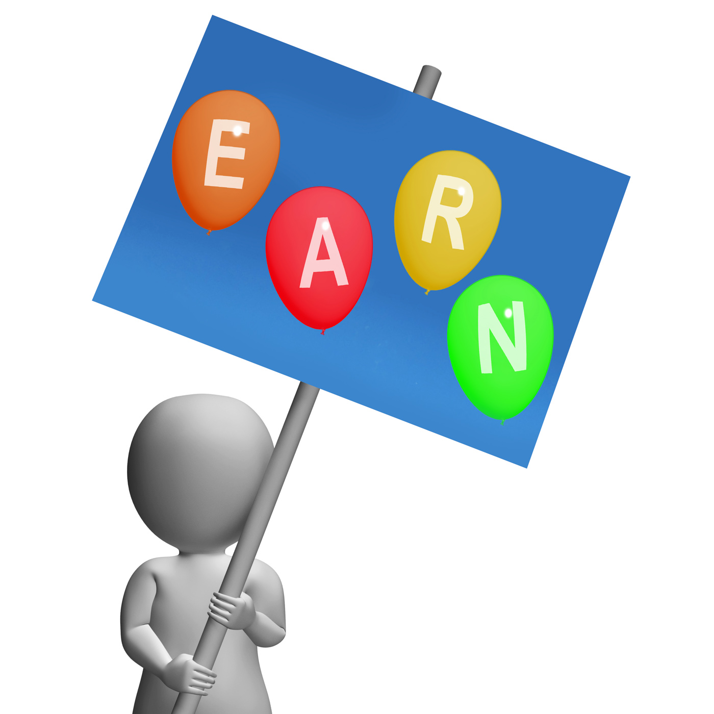 Sign earn balloons show online earnings promotions opportunities and s photo