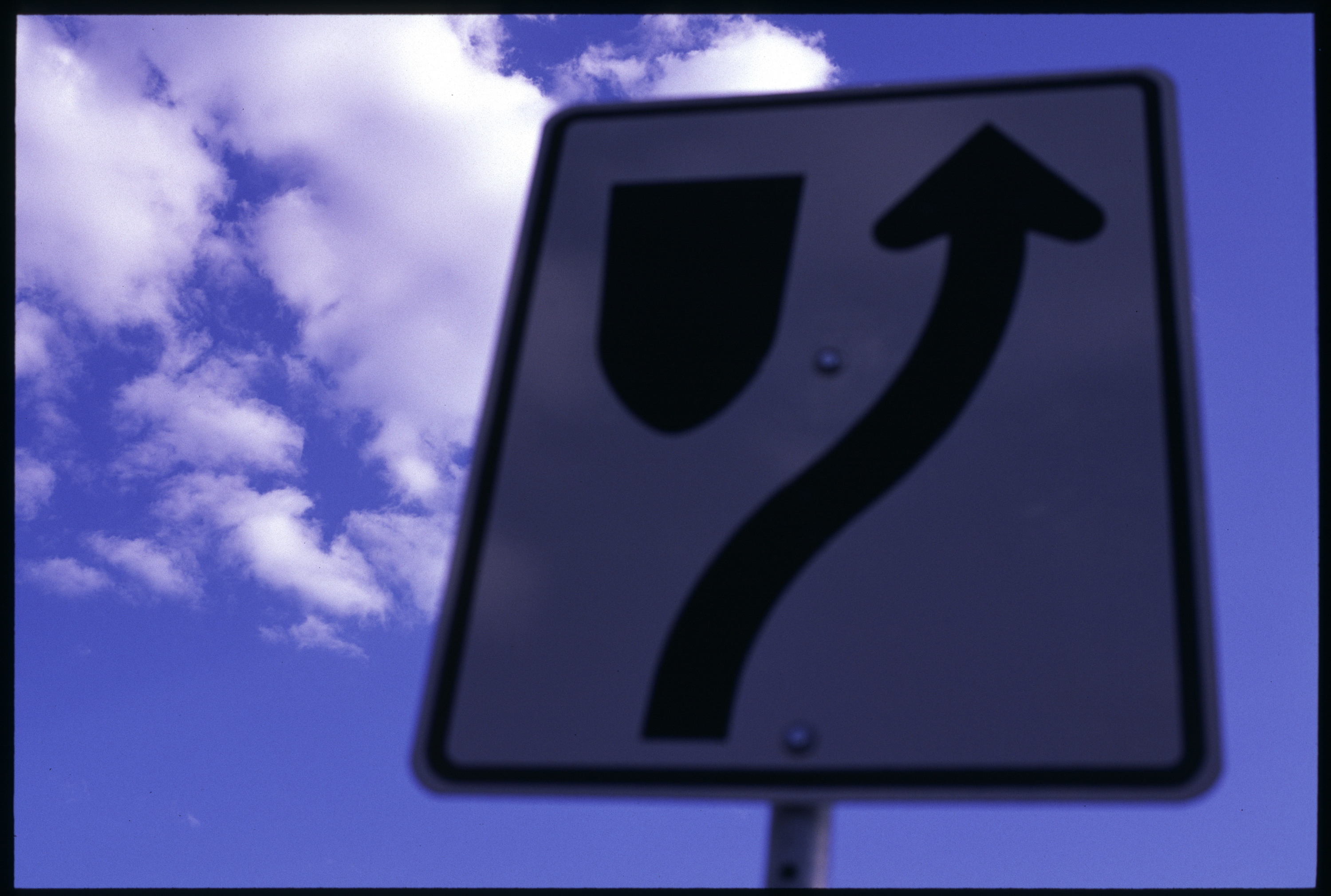 Sign in the sky, Blue, Bspo06, Clouds, Pole, HQ Photo