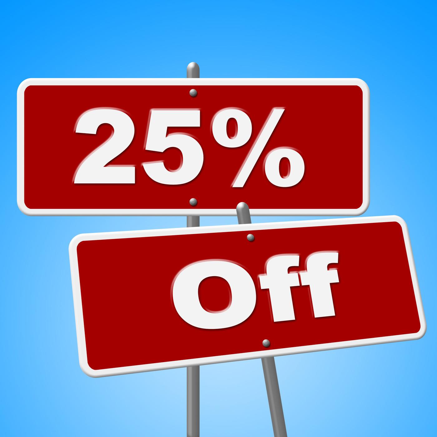 Sign Sale Represents Twenty Five And Retail, Advertisement, Promotional, Twentyfive, Signs, HQ Photo
