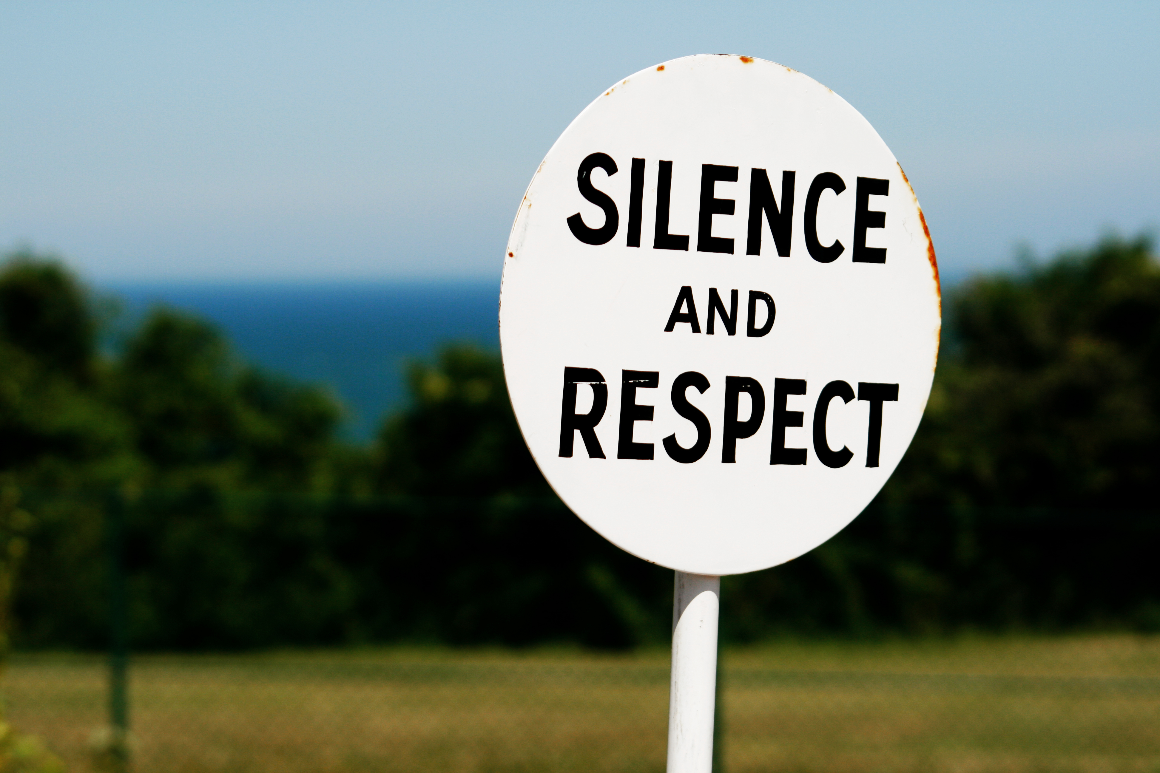 Sign silence and respect, Cemetery, Death, Nature, Respect, HQ Photo