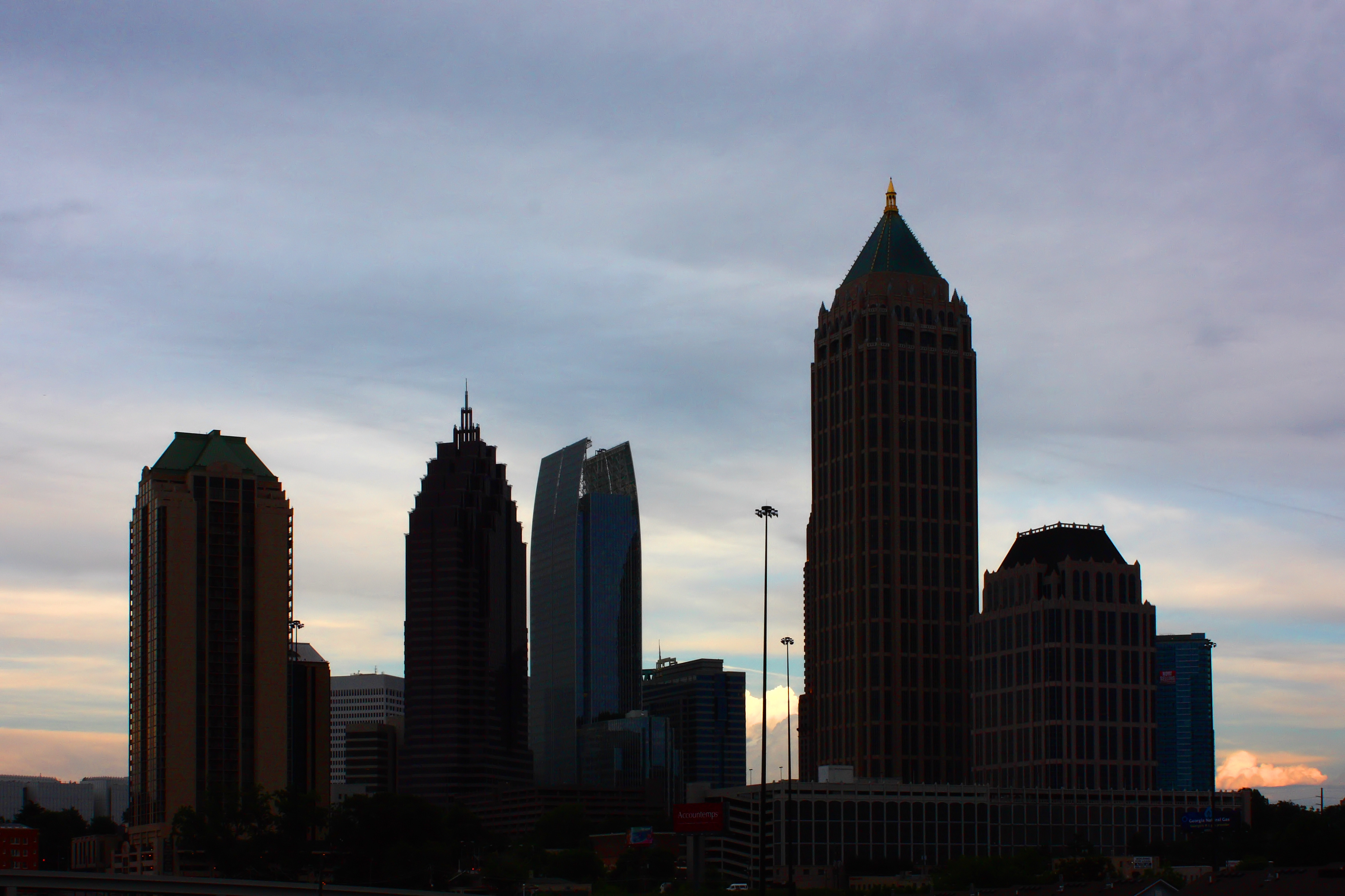 Silhouette of atlanta skyline photo