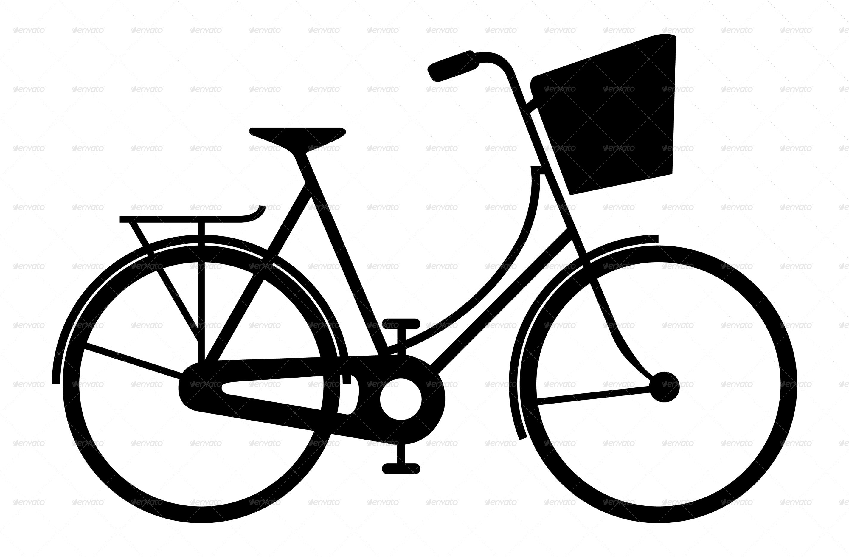 Bicycle Silhouette at GetDrawings.com | Free for personal use ...
