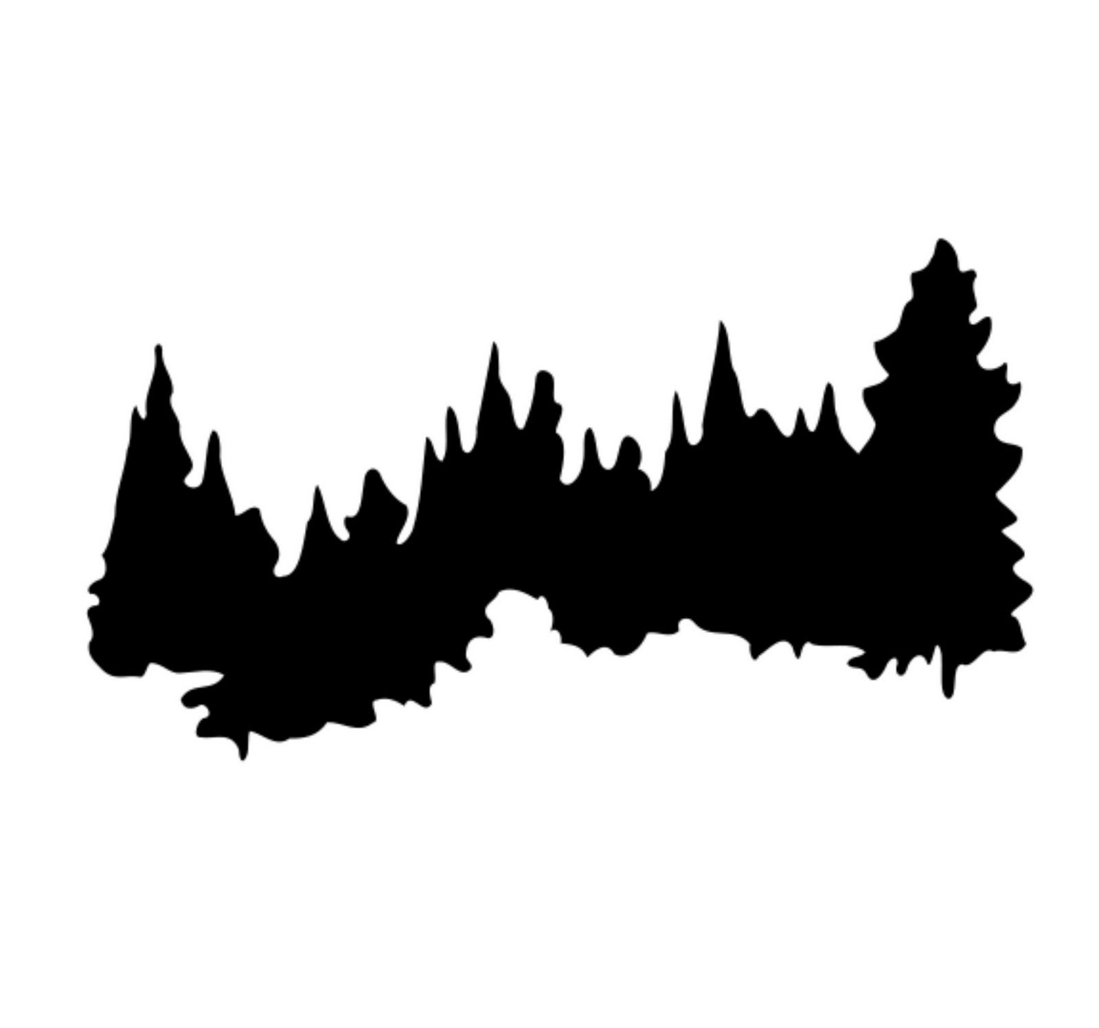 Pine Tree Forest Silhouette at GetDrawings.com | Free for personal ...
