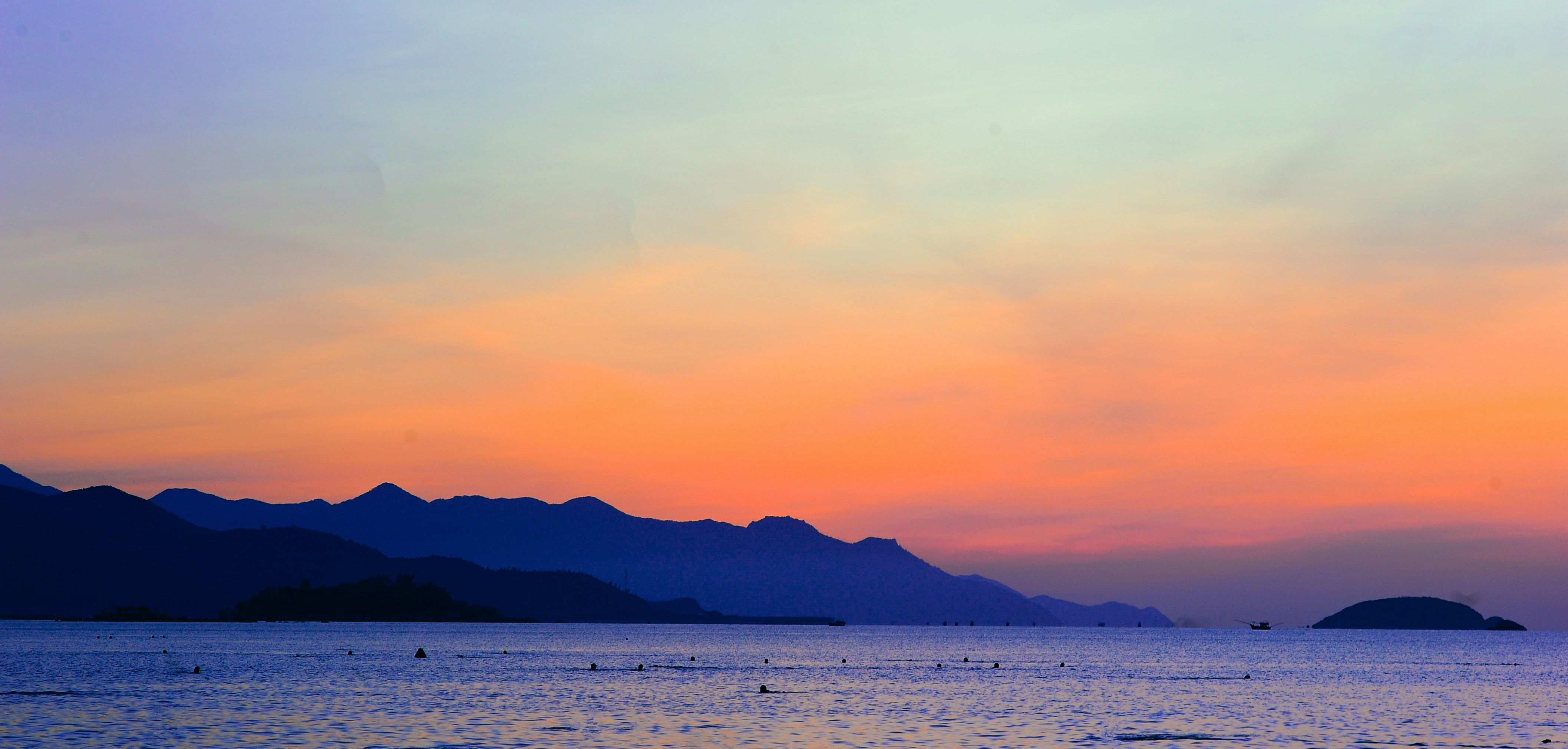 Striking Sunset Above The Sea Stock Photo - Image of