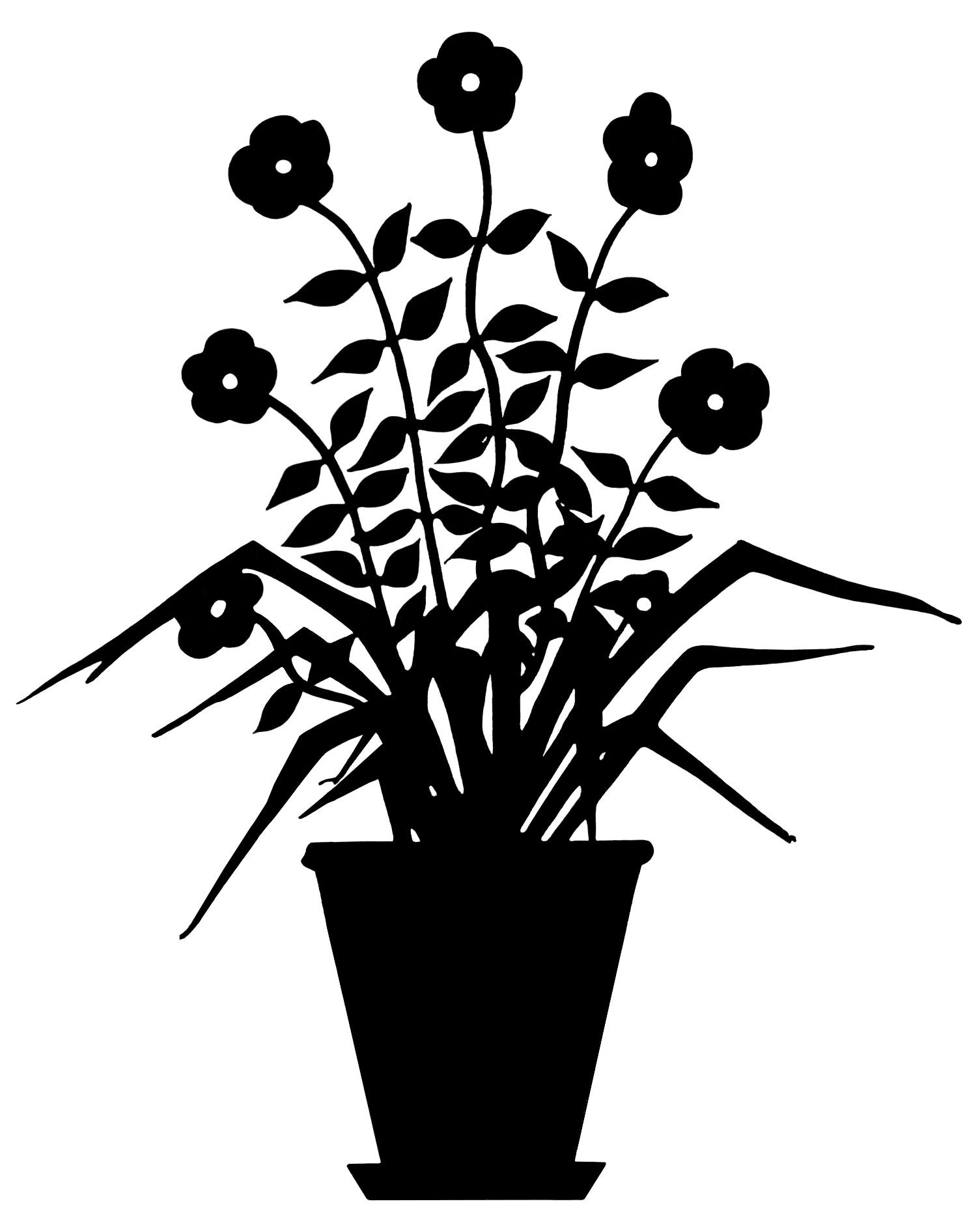 Flowering Plant Silhouette | Old Design Shop Blog